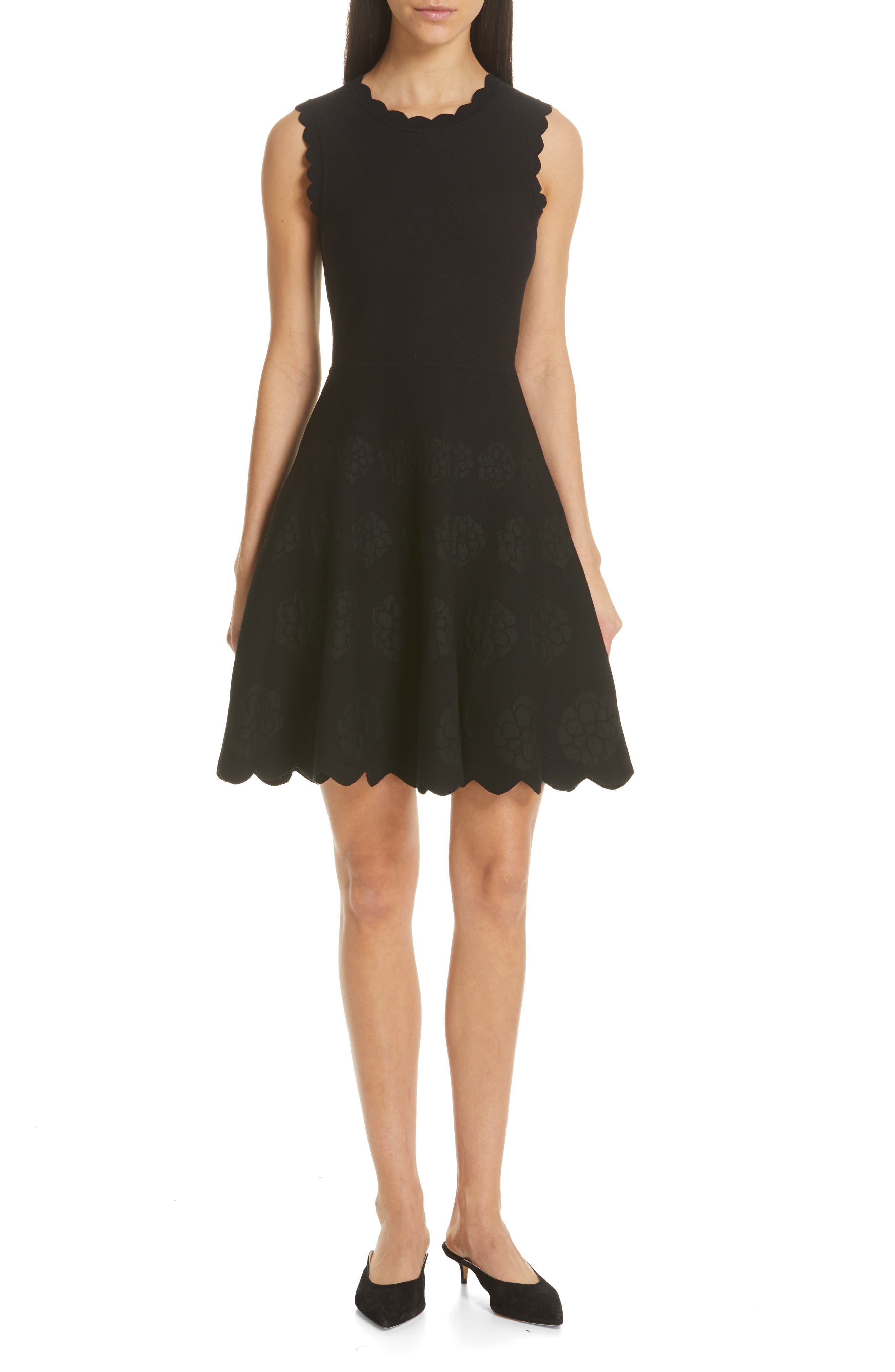 Kate Spade New York Flora Sweater Dress, Black