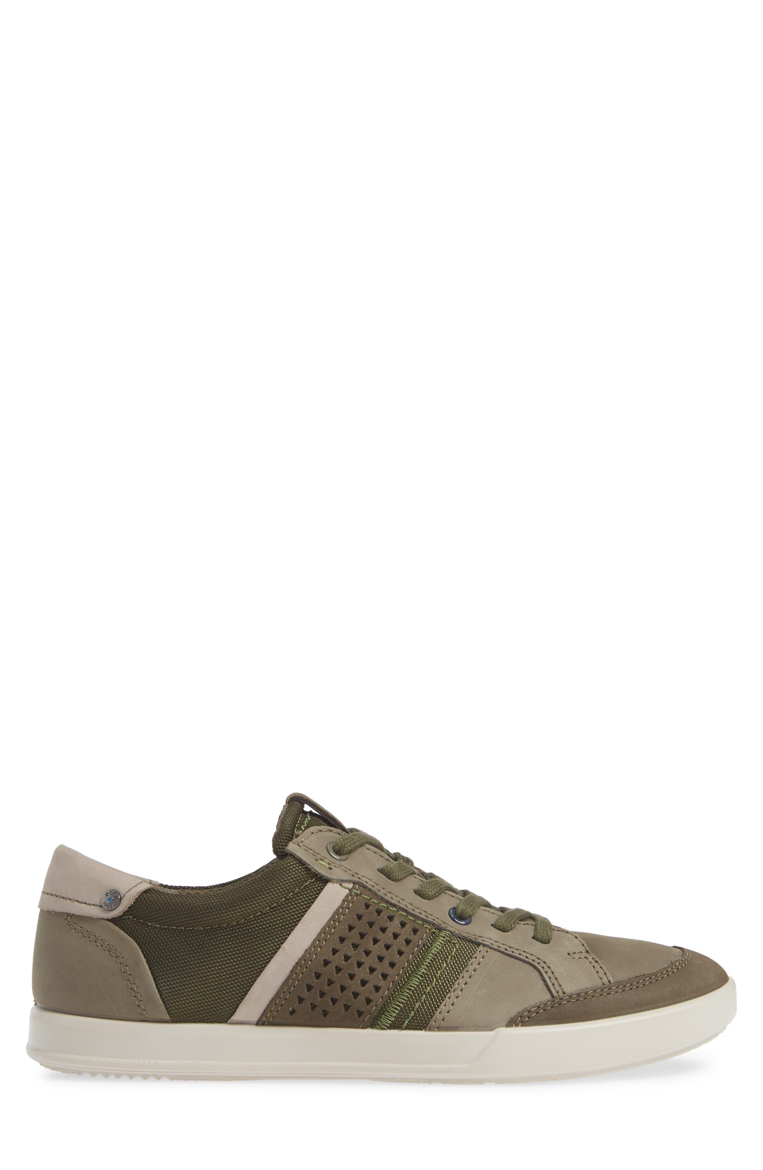 ECCO, Collin 2.0 Sneaker, Alternate thumbnail 3, color, TARMAC LEATHER