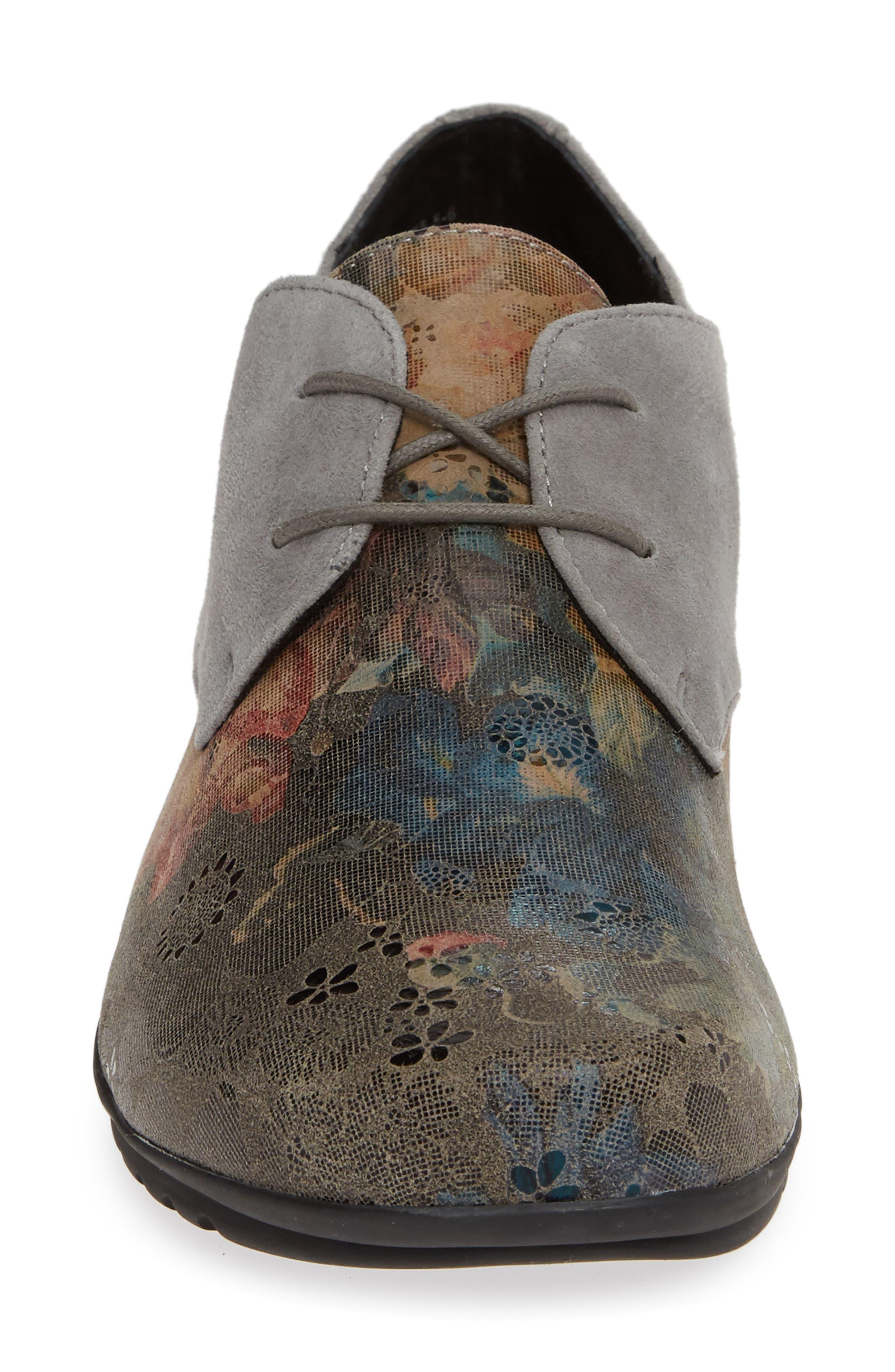 AETREX, Erin Saddle Shoe, Alternate thumbnail 4, color, CHARCOAL LEATHER