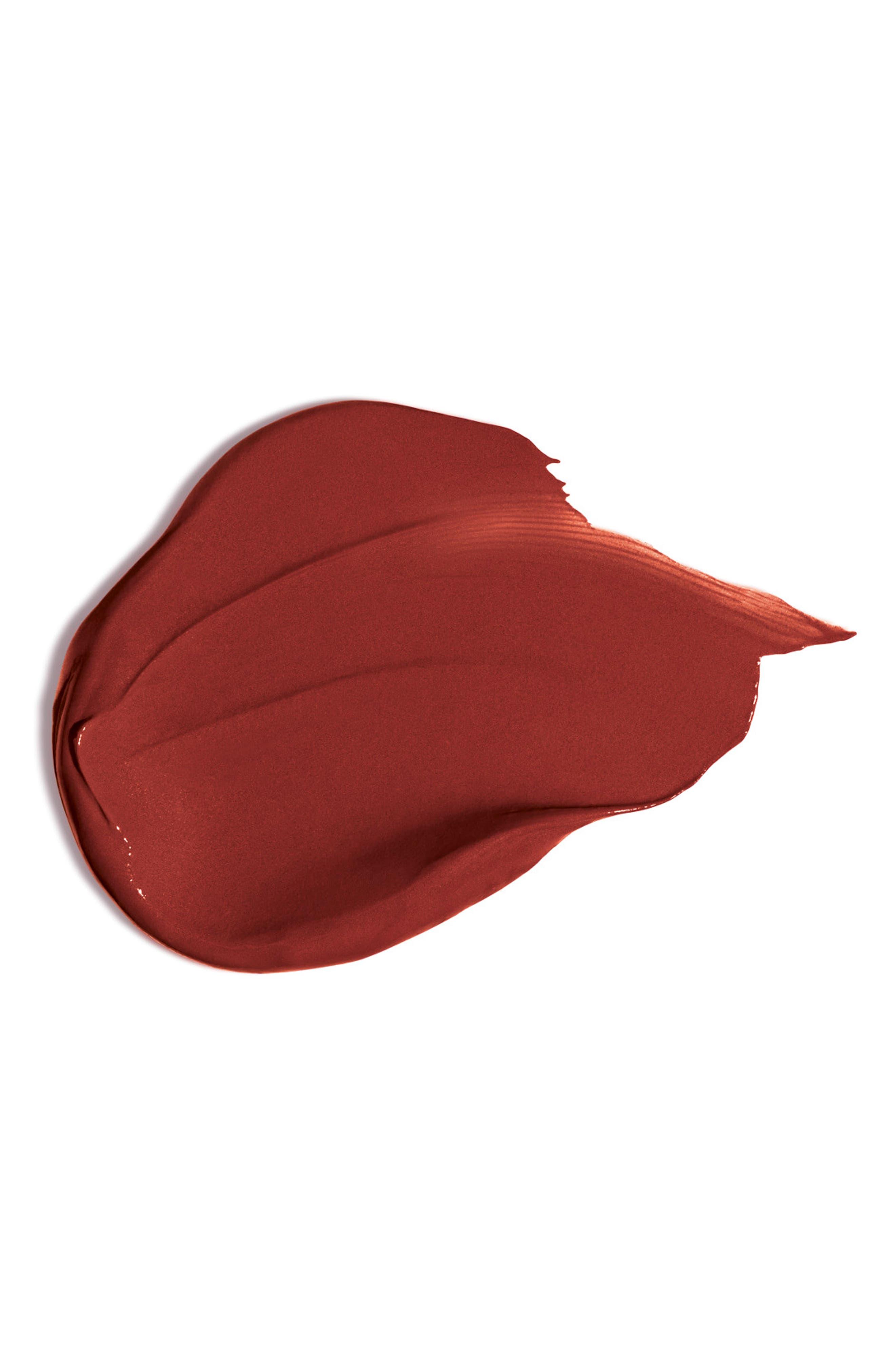CLARINS, Joli Rouge Velvet Matte Lipstick, Alternate thumbnail 2, color, 737 SPICY CINNAMON