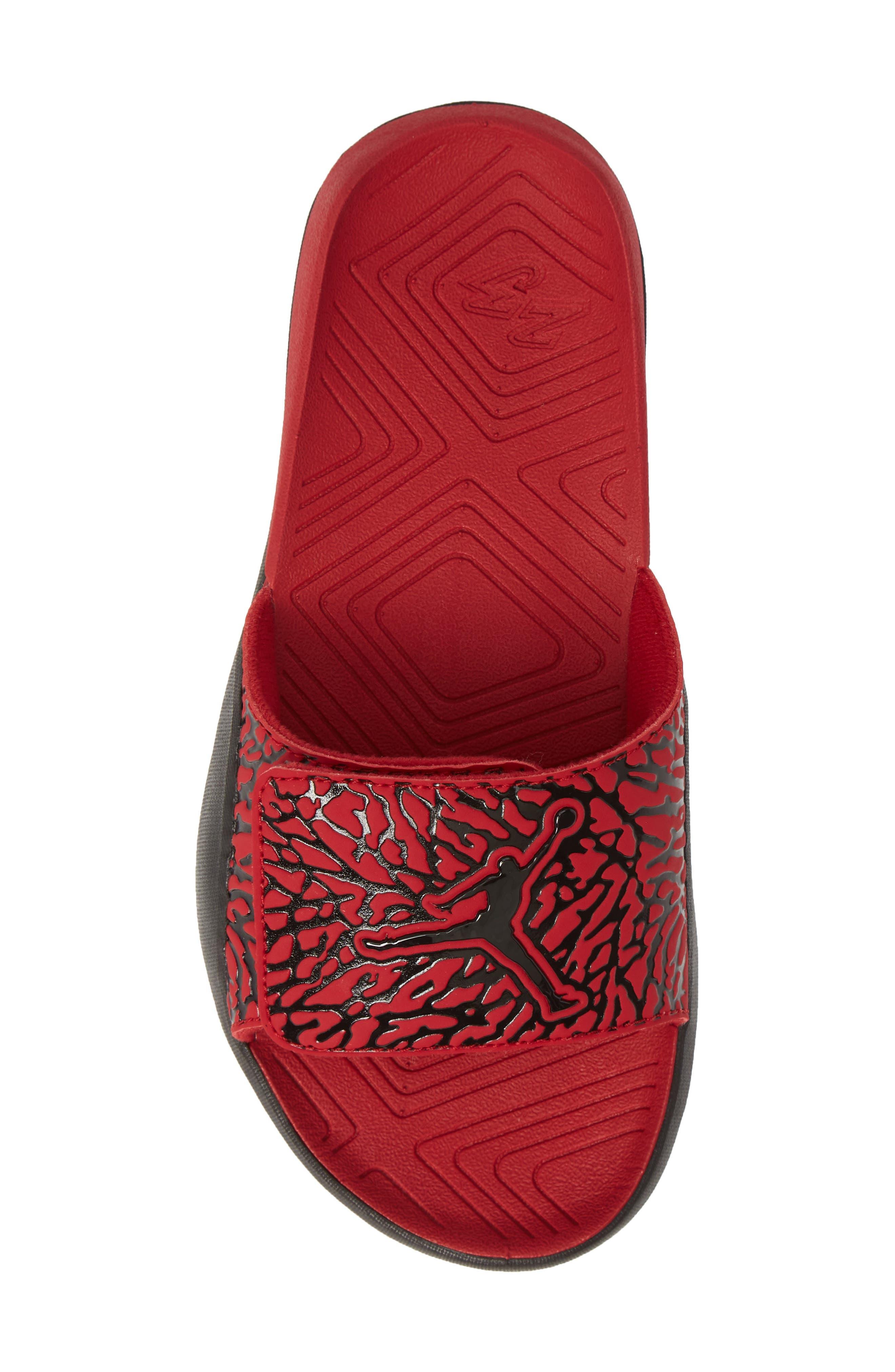 JORDAN, Hydro 7 V2 Sandal, Alternate thumbnail 5, color, GYM RED/ BLACK