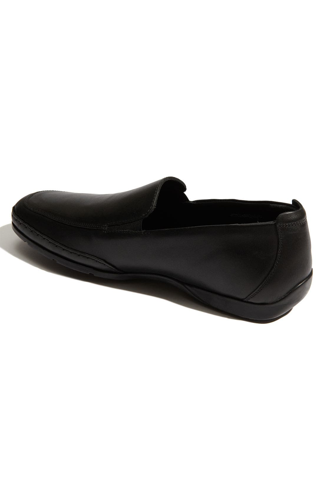 MEPHISTO, 'Edlef' Slip-On, Alternate thumbnail 7, color, BLACK SMOOTH LEATHER