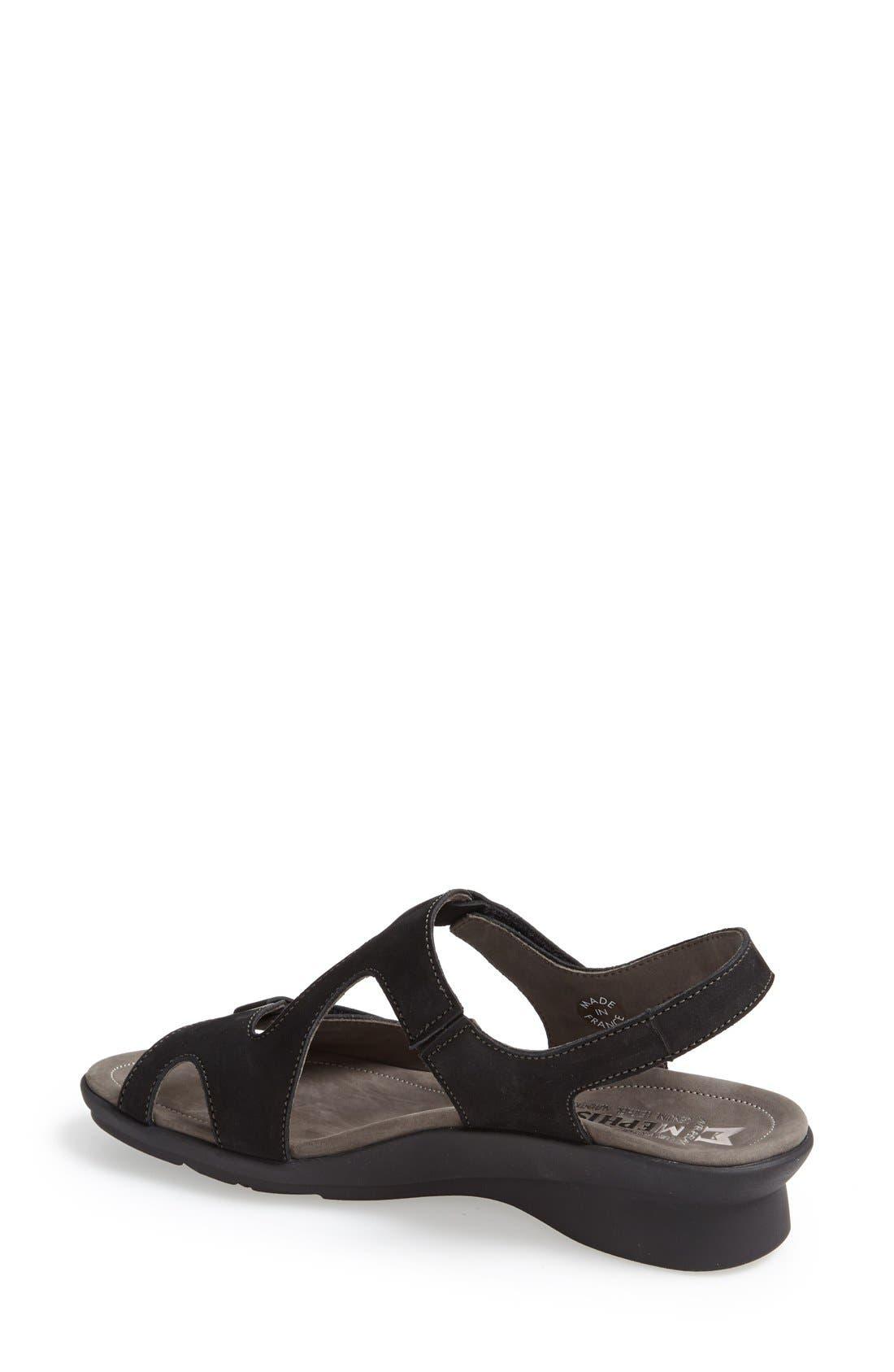 MEPHISTO, 'Paris' Slingback Sandal, Alternate thumbnail 5, color, BLACK