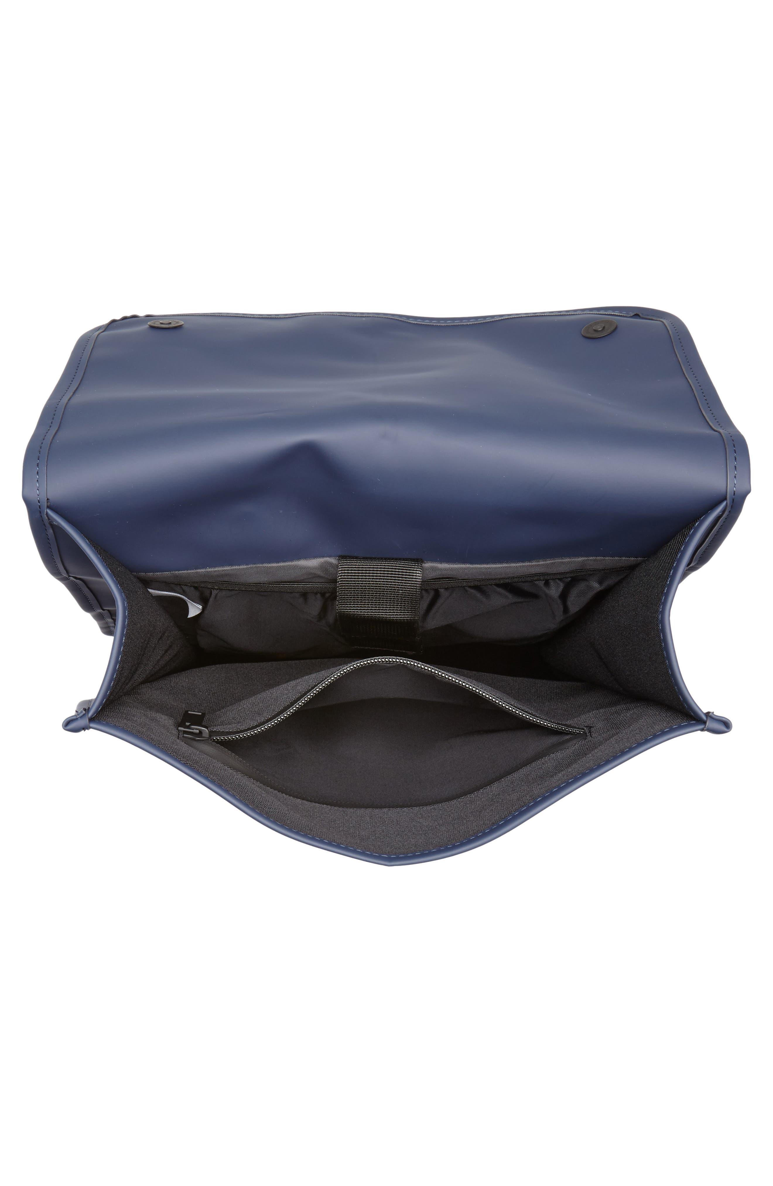 RAINS, Waterproof Backpack, Alternate thumbnail 5, color, BLUE