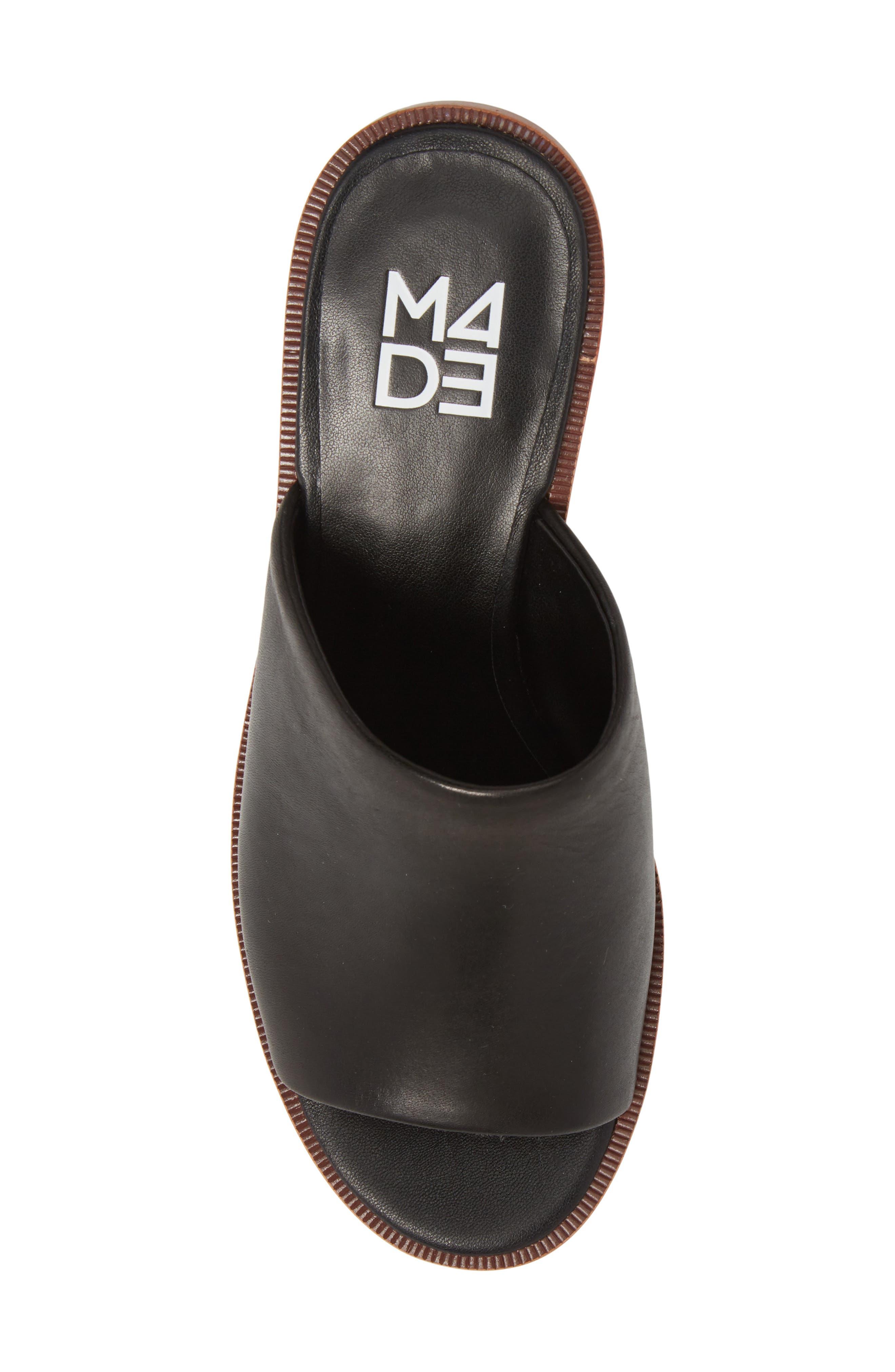 M4D3, Ruse Platform Mule, Alternate thumbnail 5, color, BLACK LEATHER