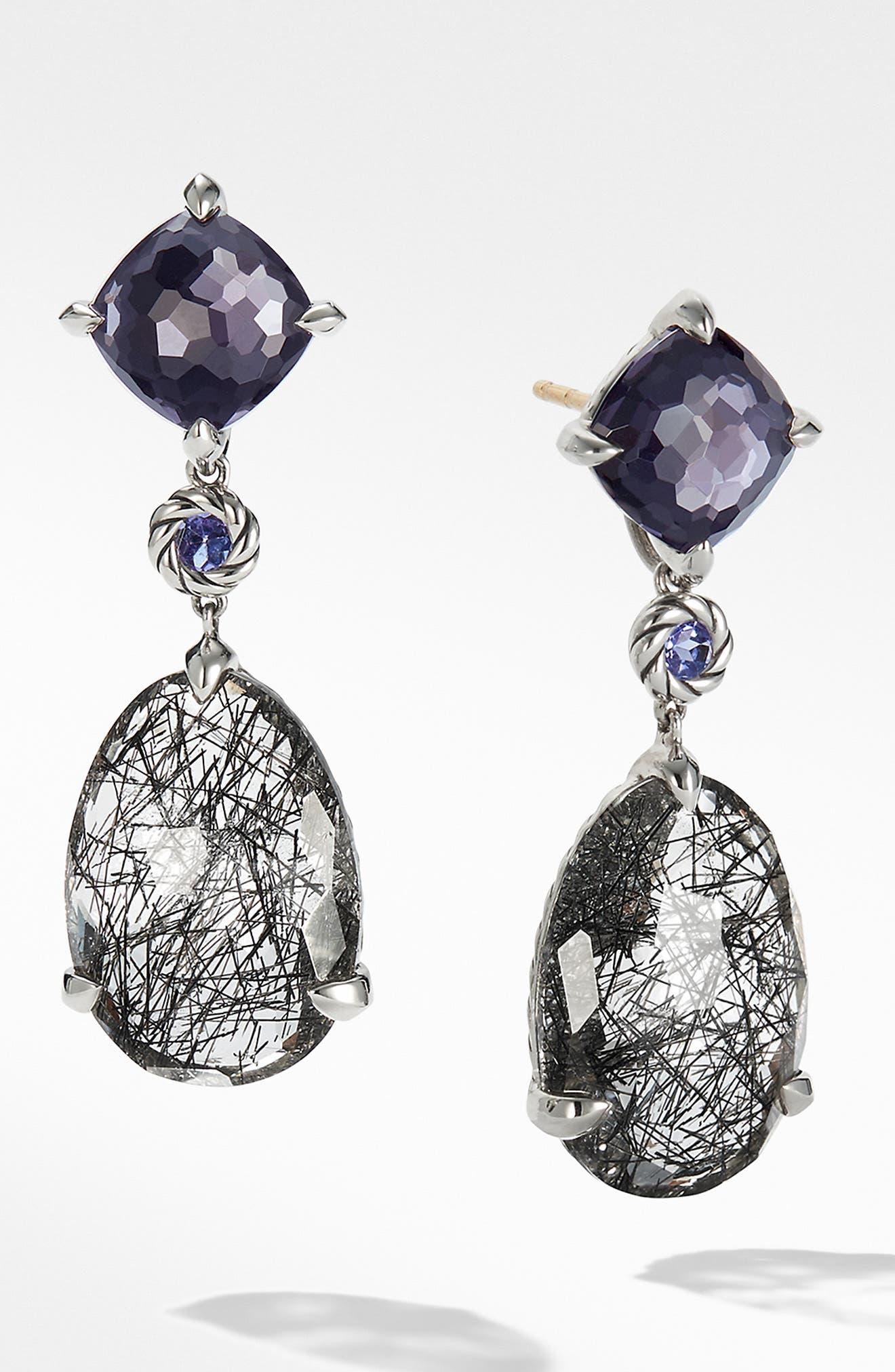 DAVID YURMAN Chatelaine Drop Earrings, Main, color, TOURMILATED QUARTZ