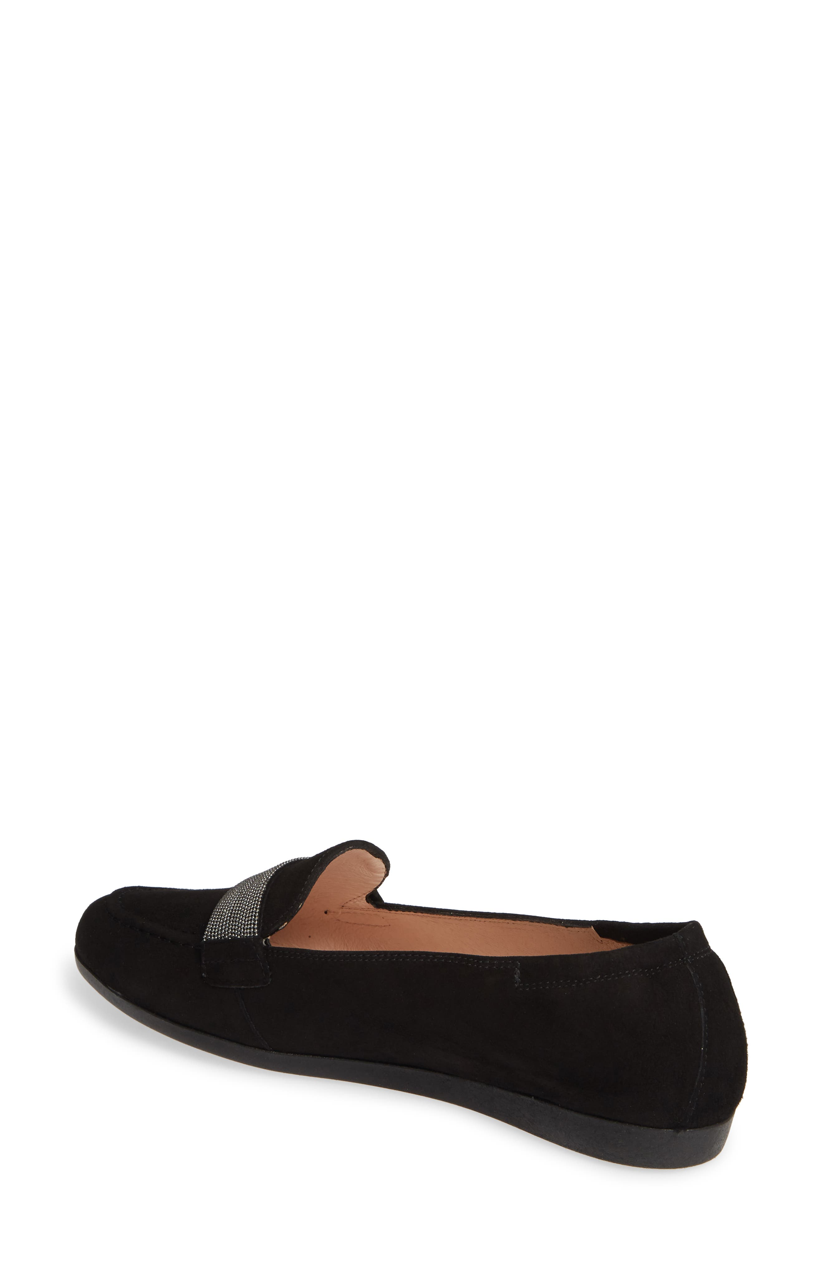 HISPANITAS, Canady Loafer, Alternate thumbnail 2, color, BLACK LEATHER