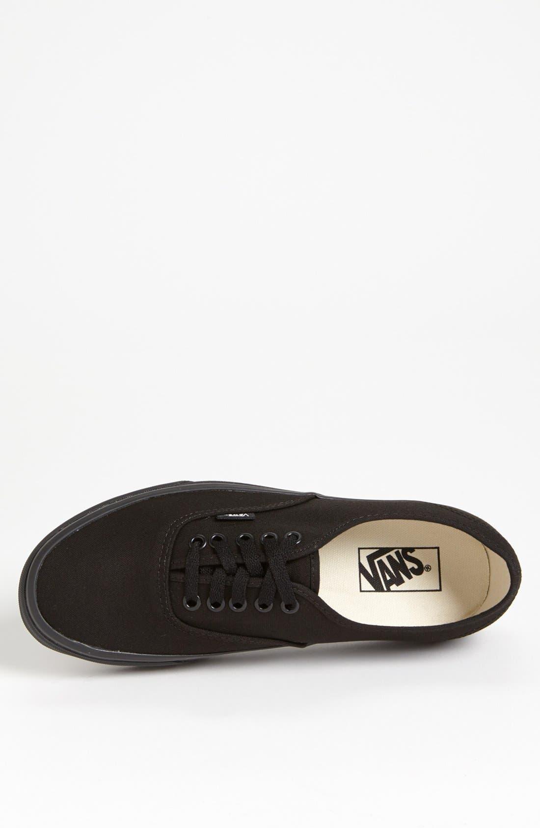 VANS, 'Authentic' Sneaker, Alternate thumbnail 2, color, BLACK/ BLACK