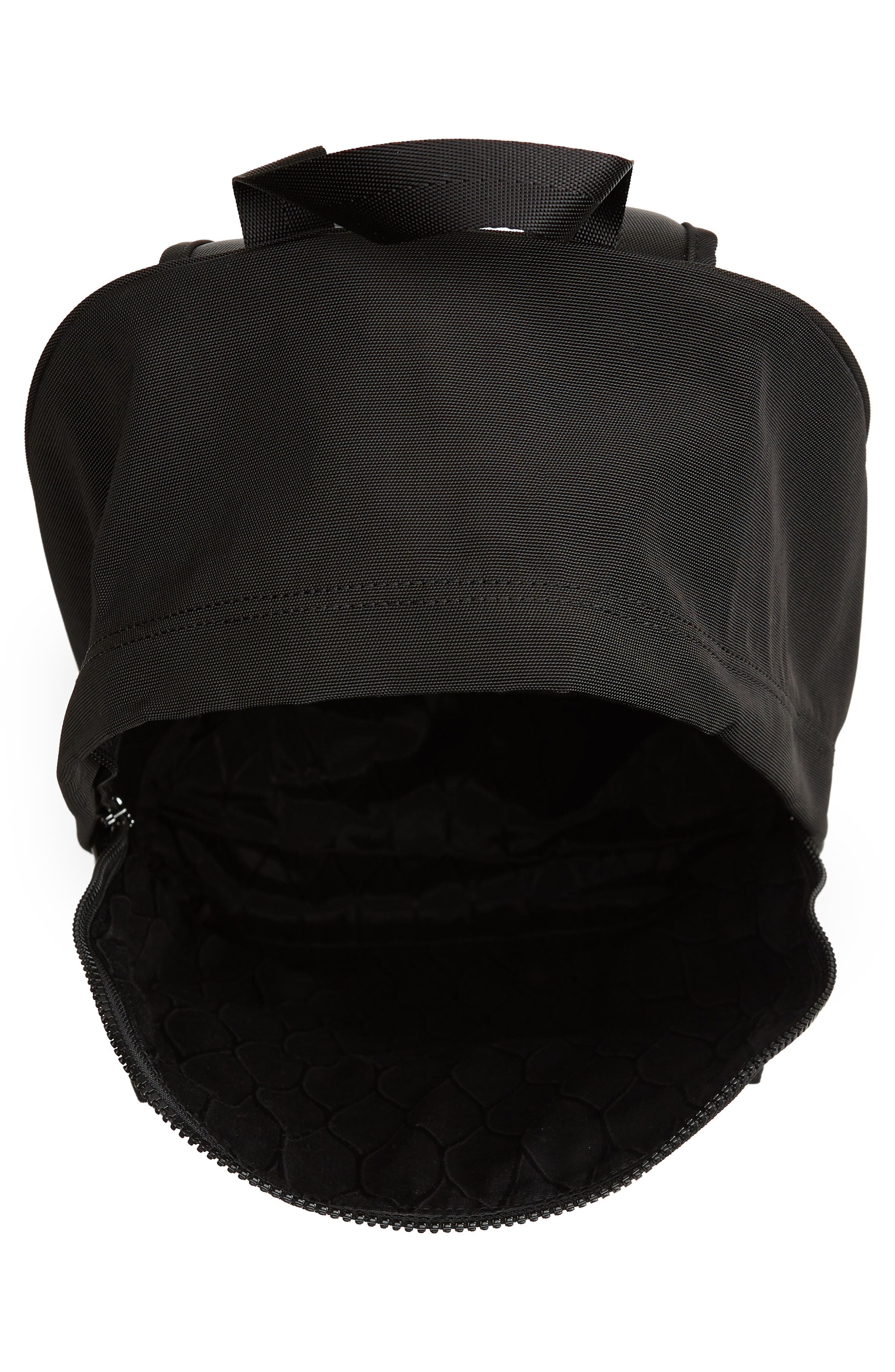 KENZO, Tiger Backpack, Alternate thumbnail 4, color, BLACK