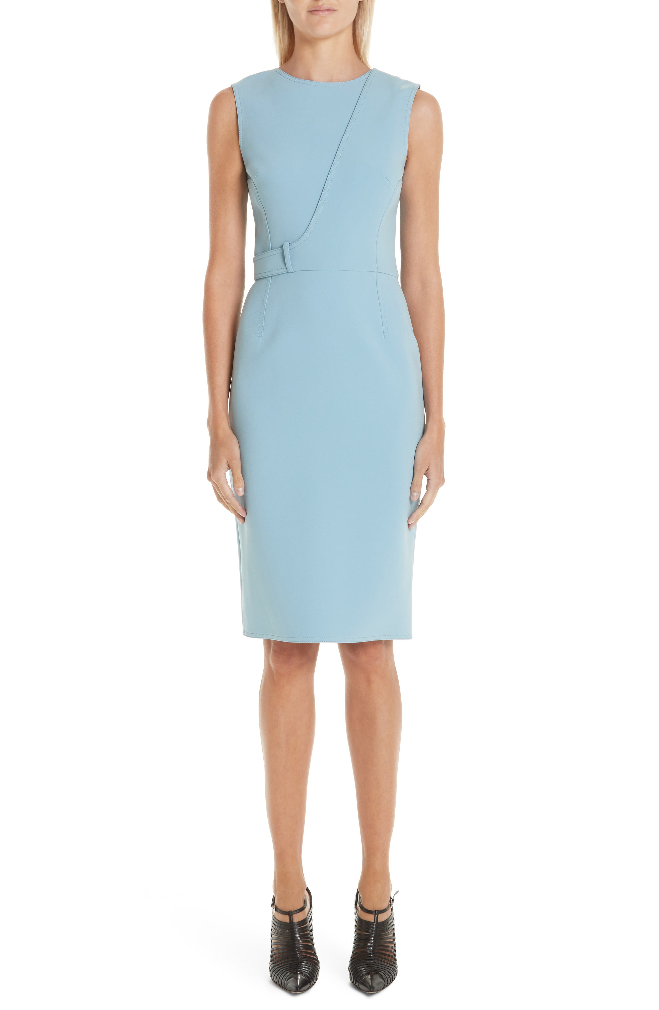 Jason Wu Collection Double Face Compact Crepe Dress, Blue