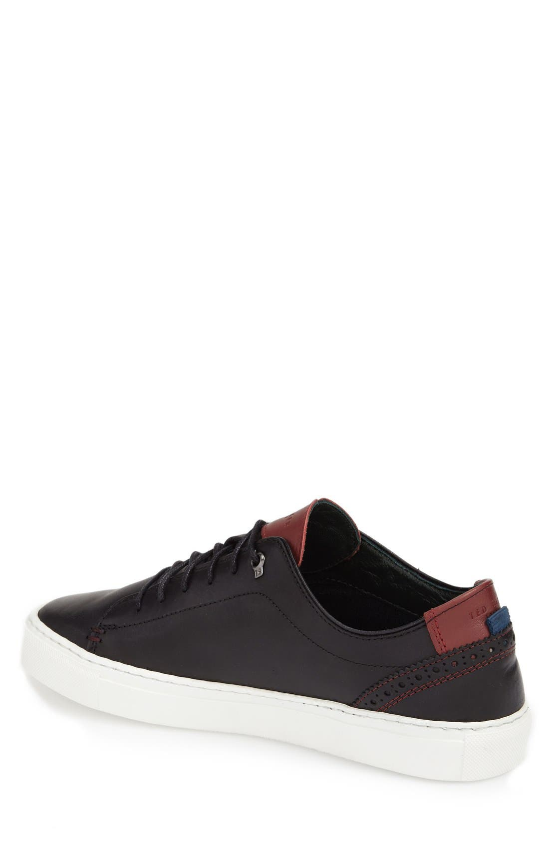 TED BAKER LONDON, 'Kiing Classic' Sneaker, Alternate thumbnail 5, color, 001