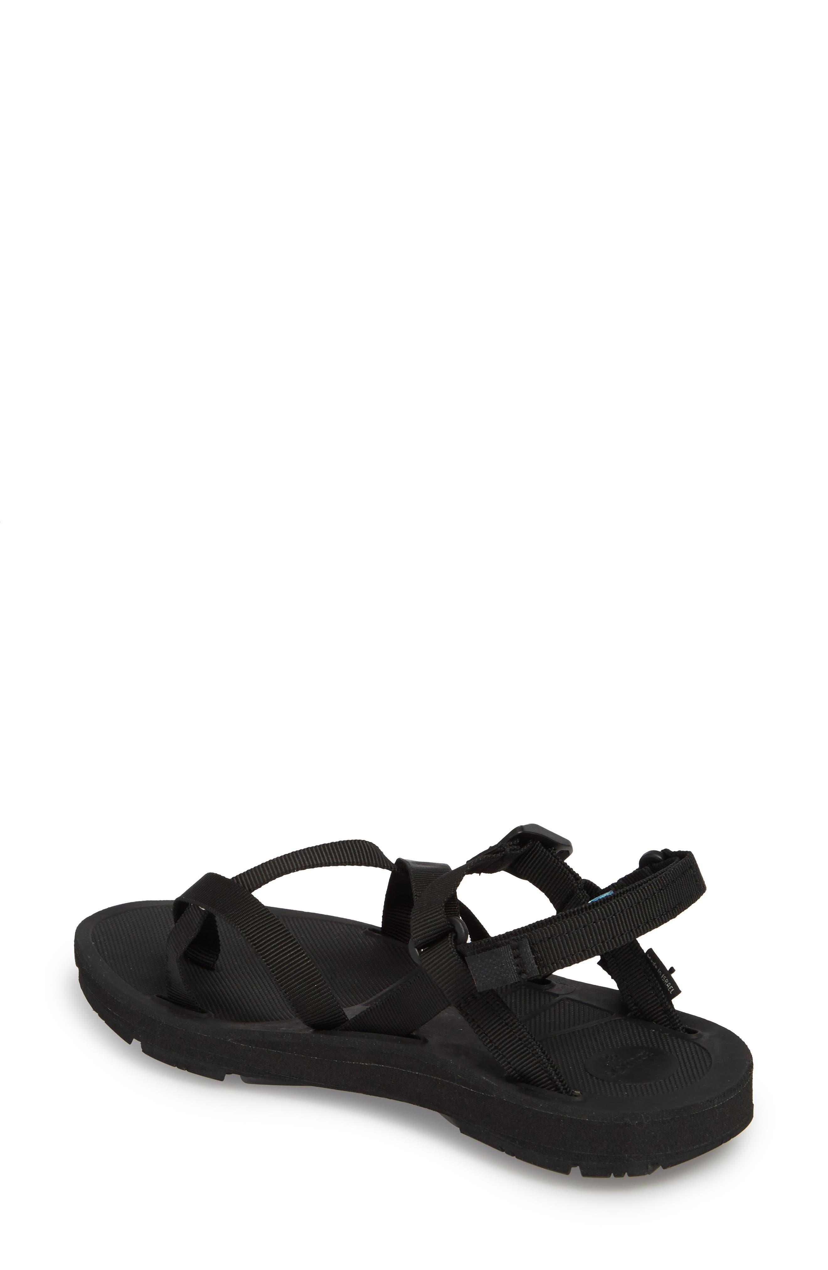 NAOT, Shore Sandal, Alternate thumbnail 2, color, BLACK FABRIC
