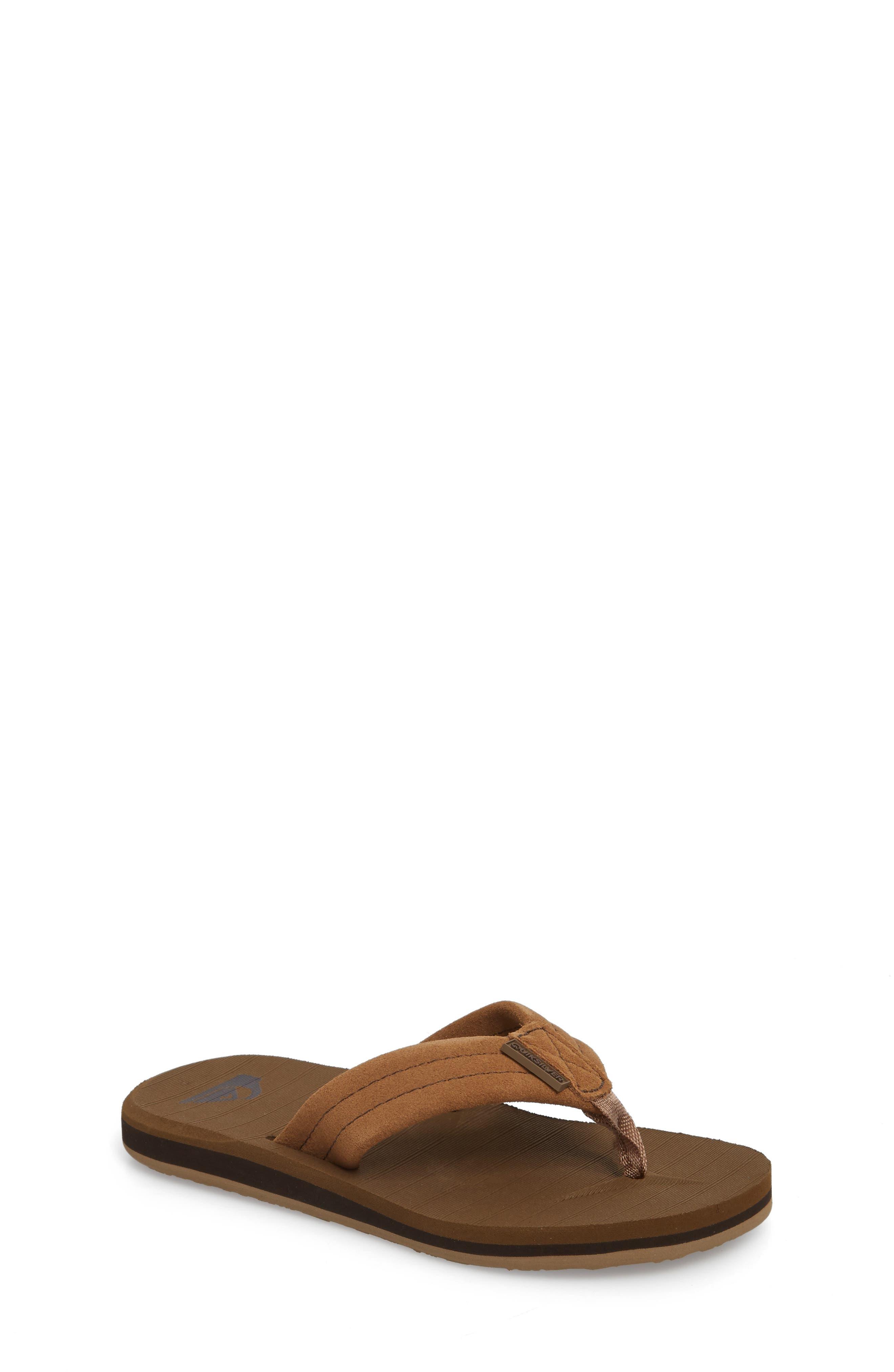 QUIKSILVER, Carver Flip Flop, Main thumbnail 1, color, TAN