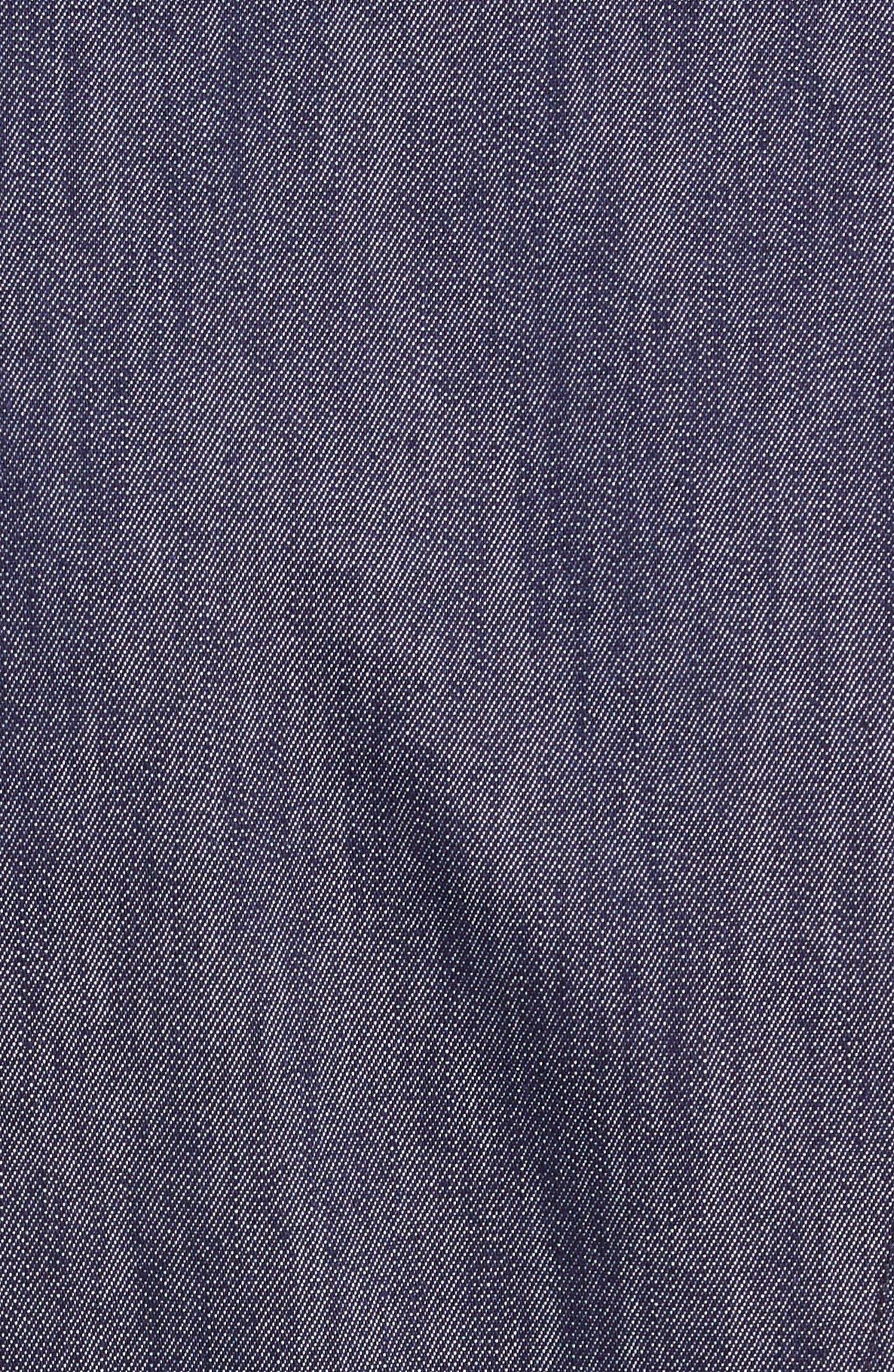 TOMMY X ZENDAYA, Belted Denim Dress, Alternate thumbnail 5, color, DENIM BLUE