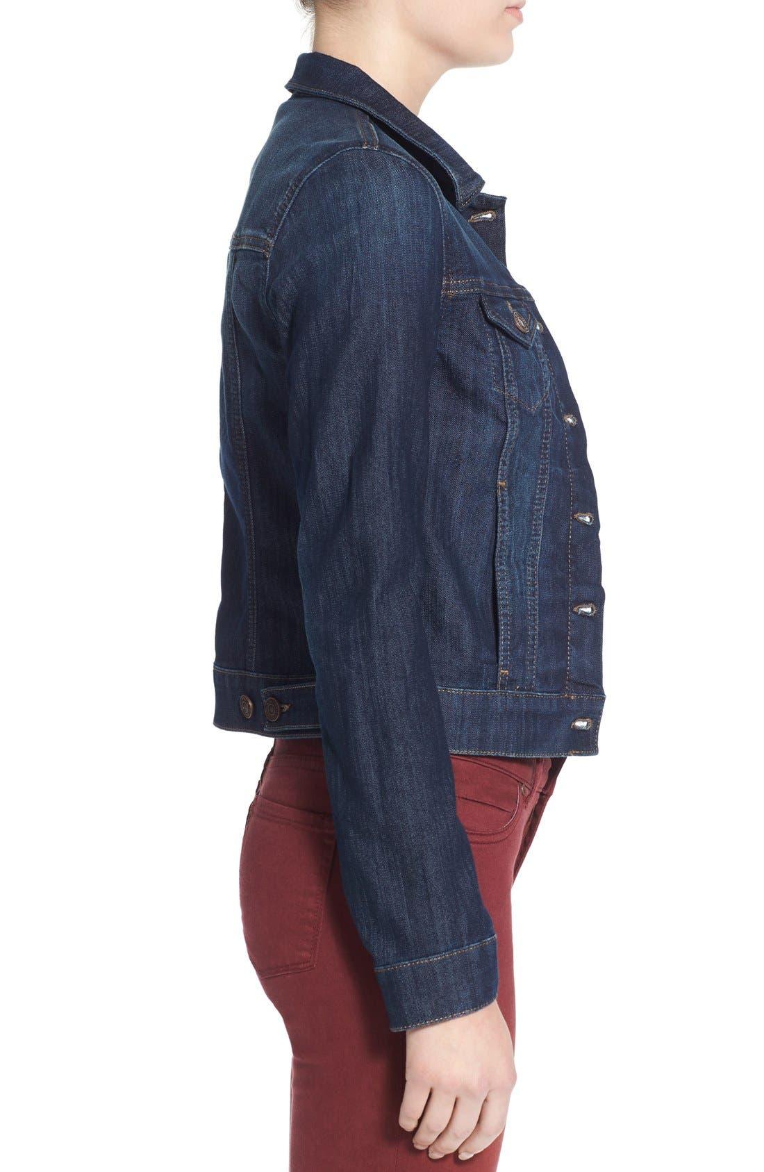 MAVI JEANS, 'Samantha' Denim Jacket, Alternate thumbnail 5, color, DARK NOLITA