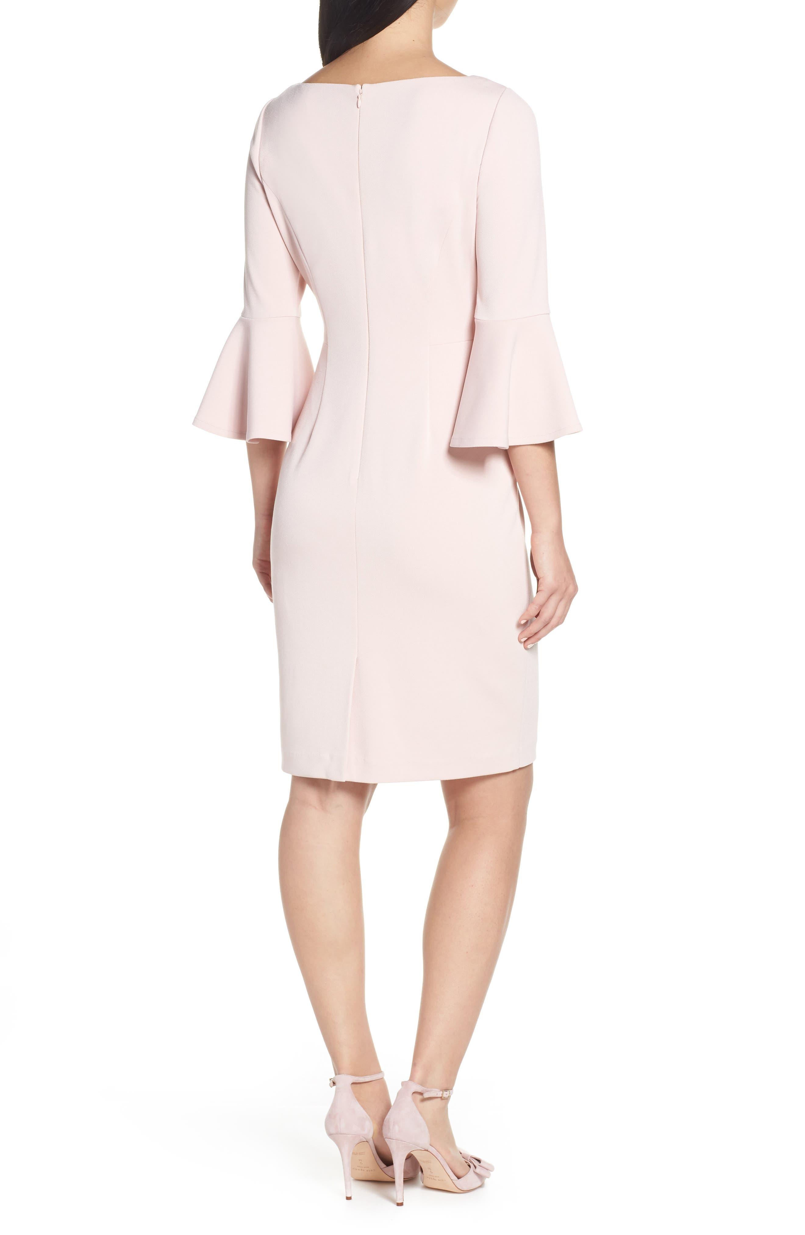 HARPER ROSE, Bell Sleeve Bateau Neck Sheath Dress, Alternate thumbnail 2, color, BLUSH