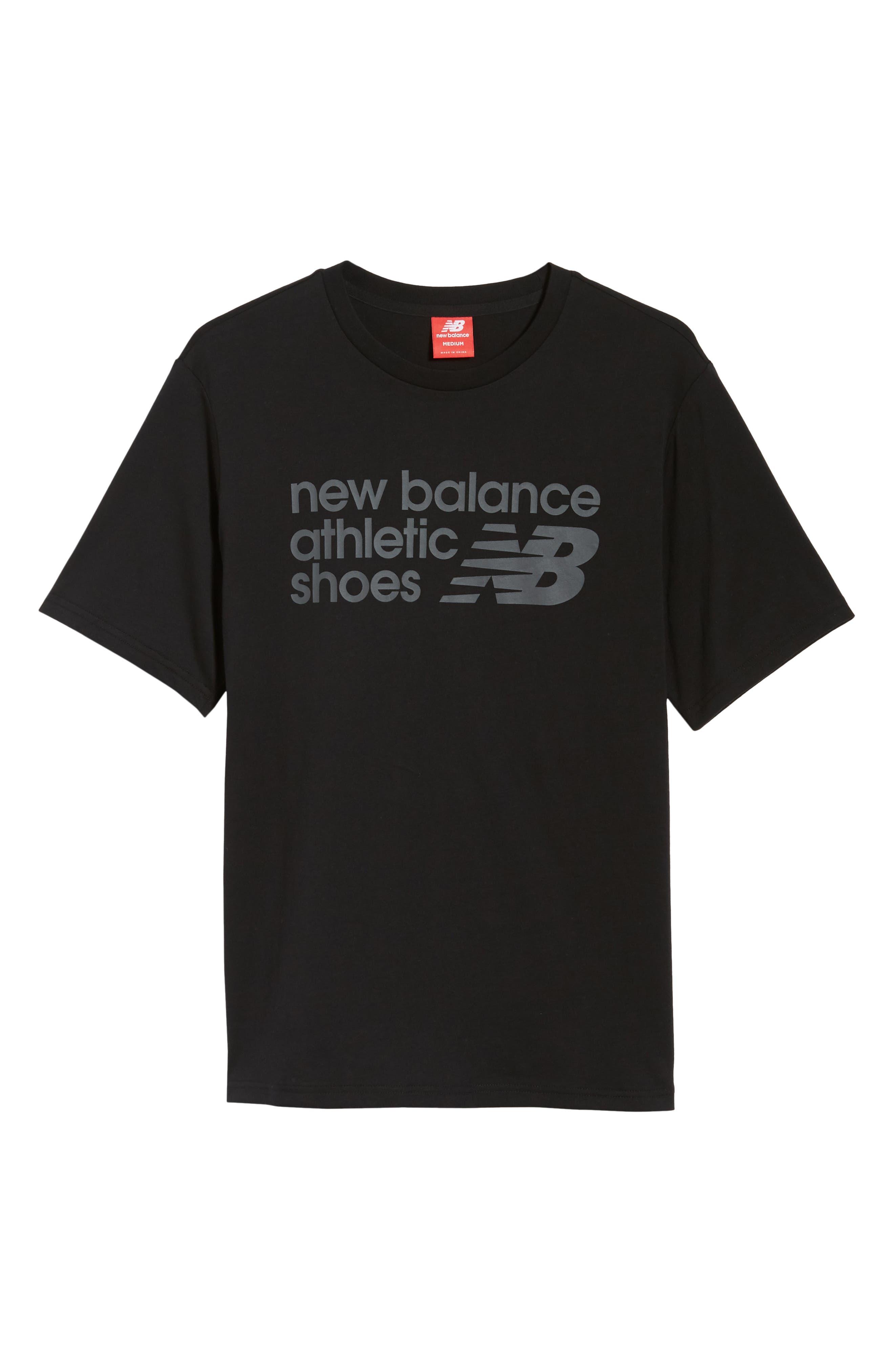NEW BALANCE, NB Shoe Box Graphic T-Shirt, Alternate thumbnail 6, color, BLACK