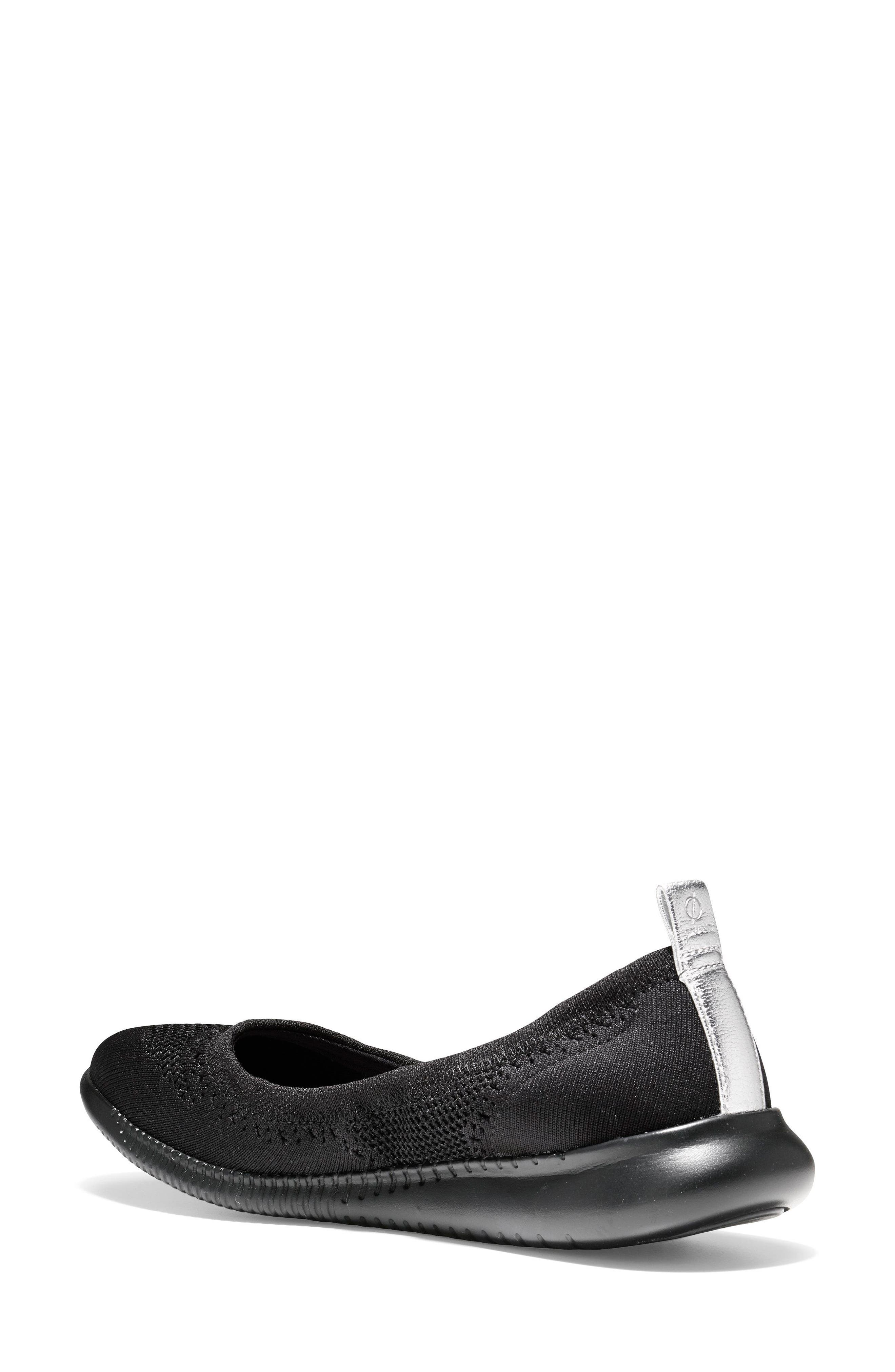 COLE HAAN, 2.ZERØGRAND Stitchlite Ballet Flat, Alternate thumbnail 2, color, BLACK FABRIC