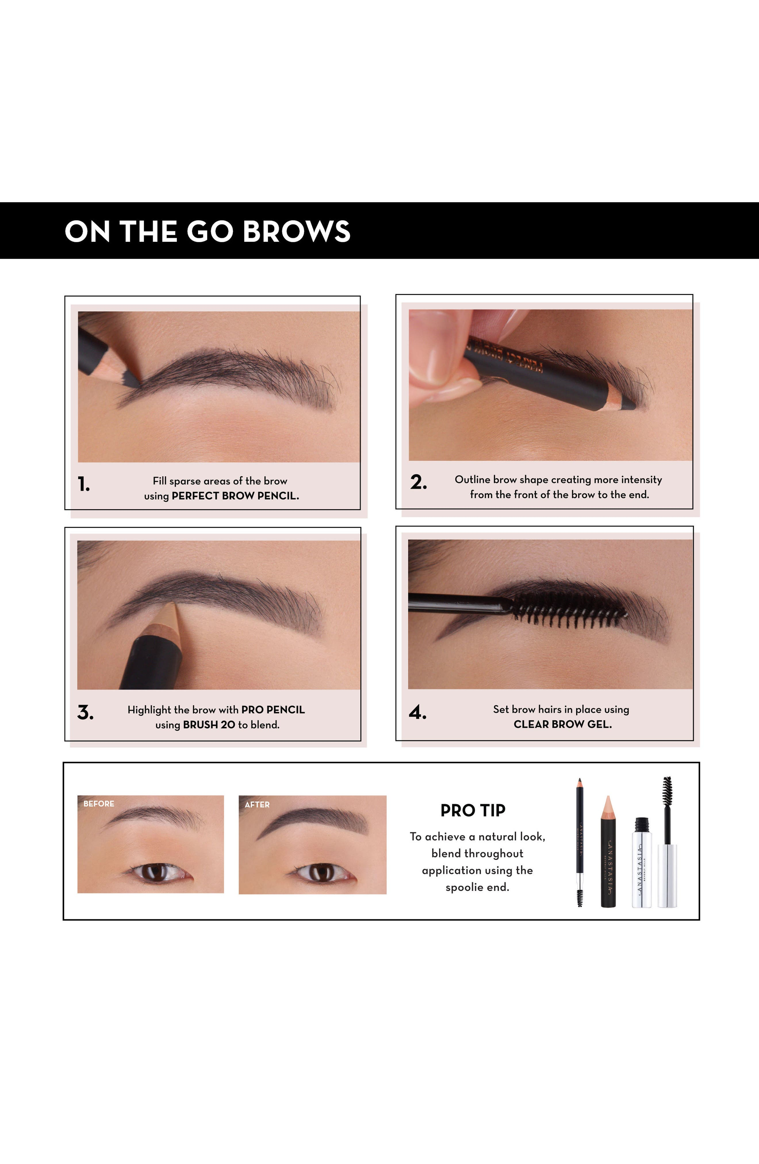ANASTASIA BEVERLY HILLS, Brow Gel, Alternate thumbnail 3, color, CLEAR