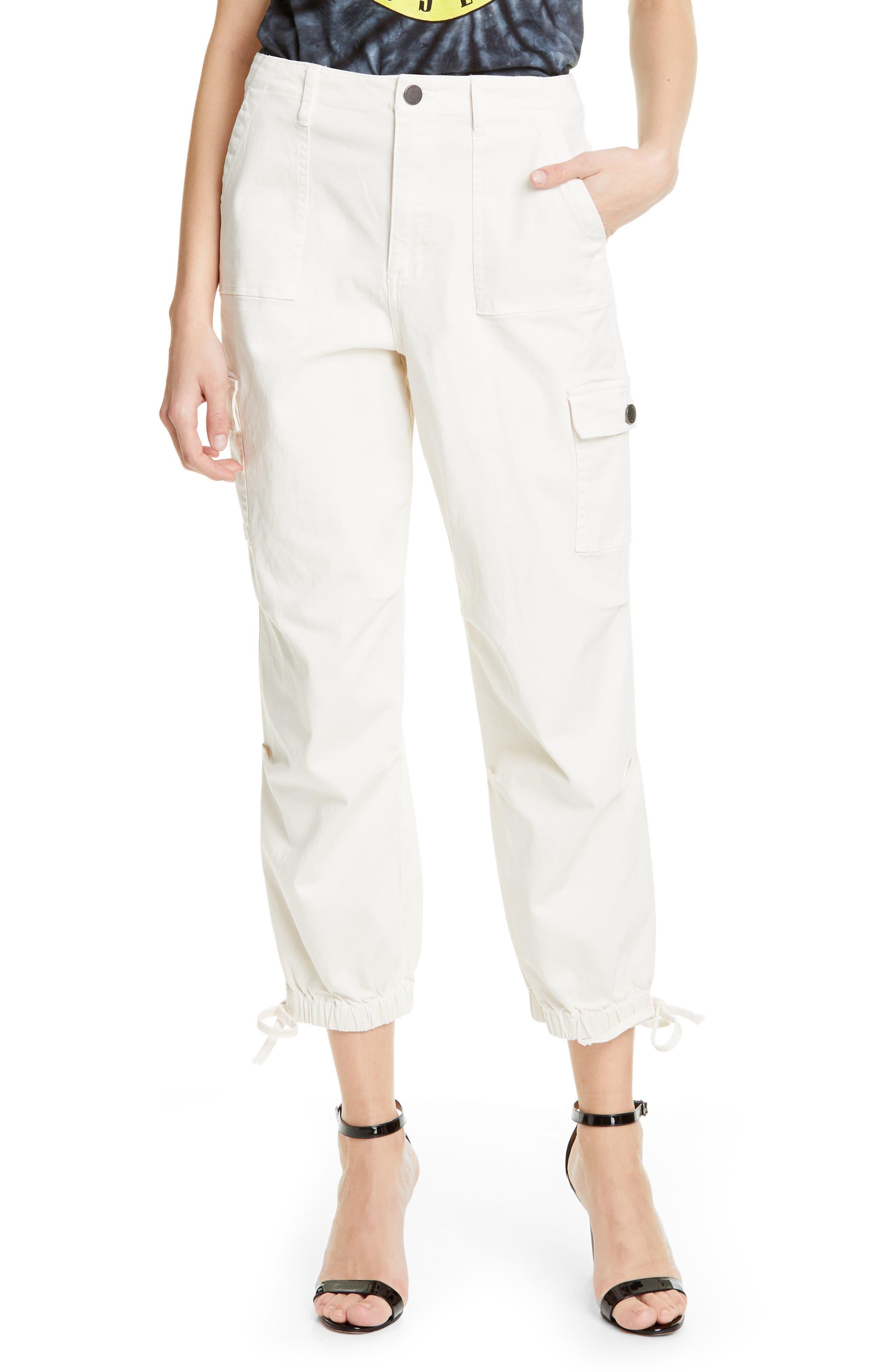 Alice + Olivia Jeans Crop Cargo Pants, White