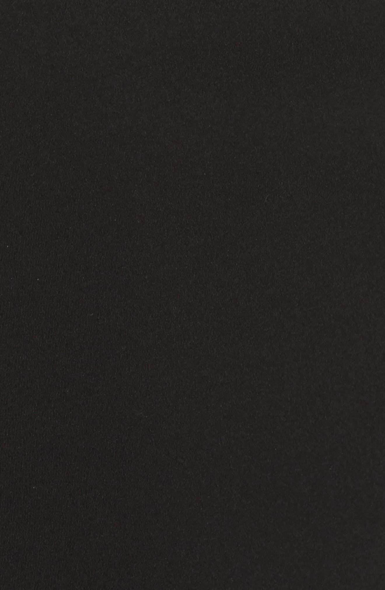 MAC DUGGAL, Strapless Bustier Rosette Gown, Alternate thumbnail 5, color, BLACK
