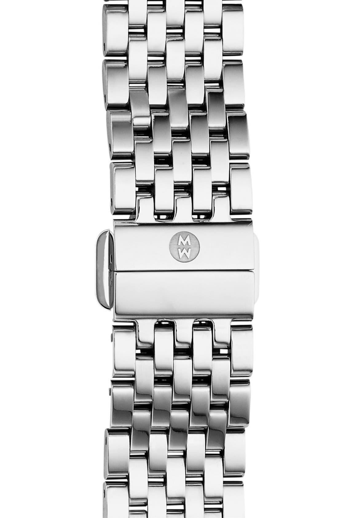 MICHELE, Deco II Mid 16mm Bracelet Watchband, Main thumbnail 1, color, SILVER
