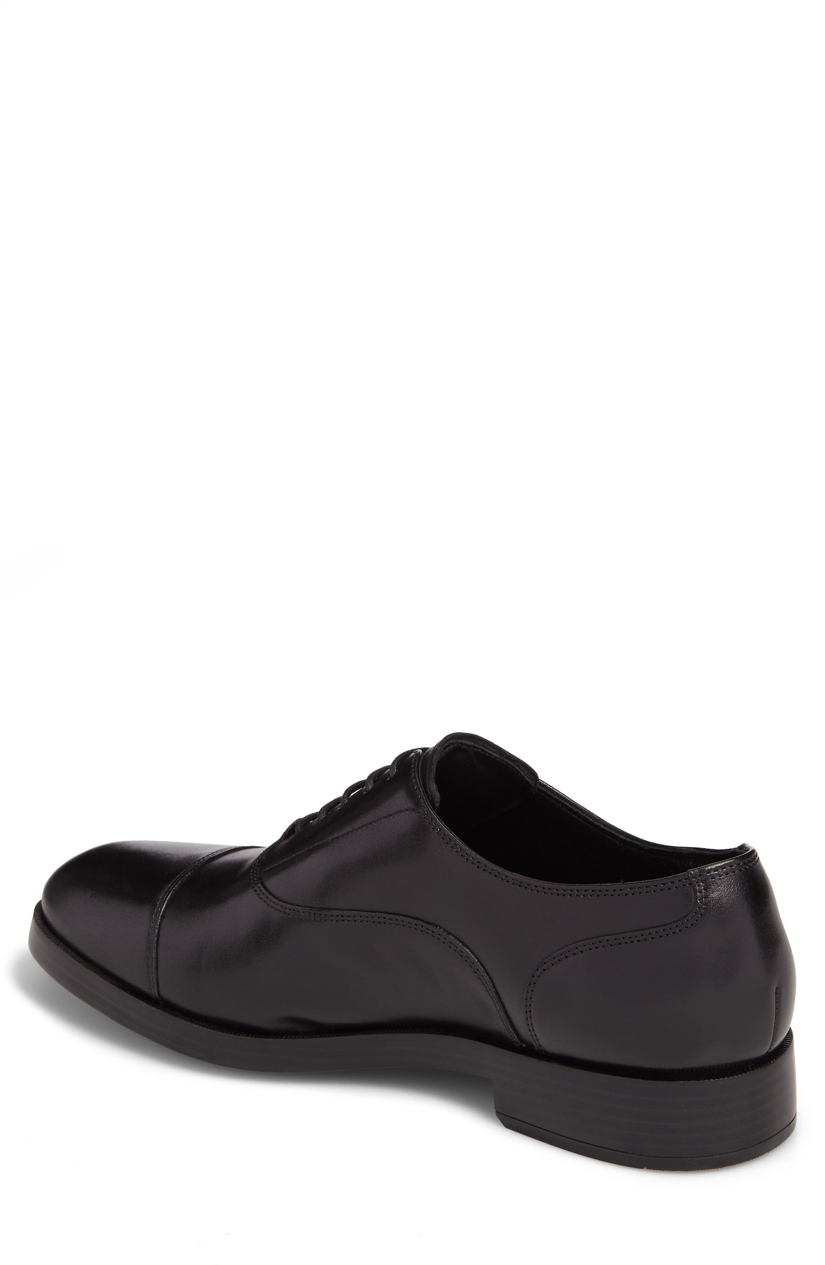 COLE HAAN, Harrison Grand Cap Toe Oxford, Alternate thumbnail 2, color, BLACK/ BLACK LEATHER