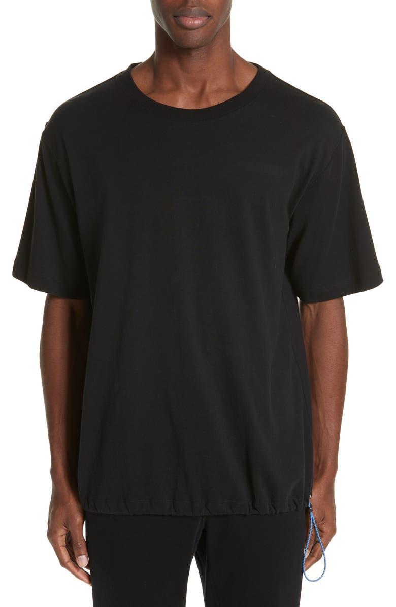 Ben Taverniti Unravel Project T-shirts MOTION VINTAGE DRAWSTRING T-SHIRT