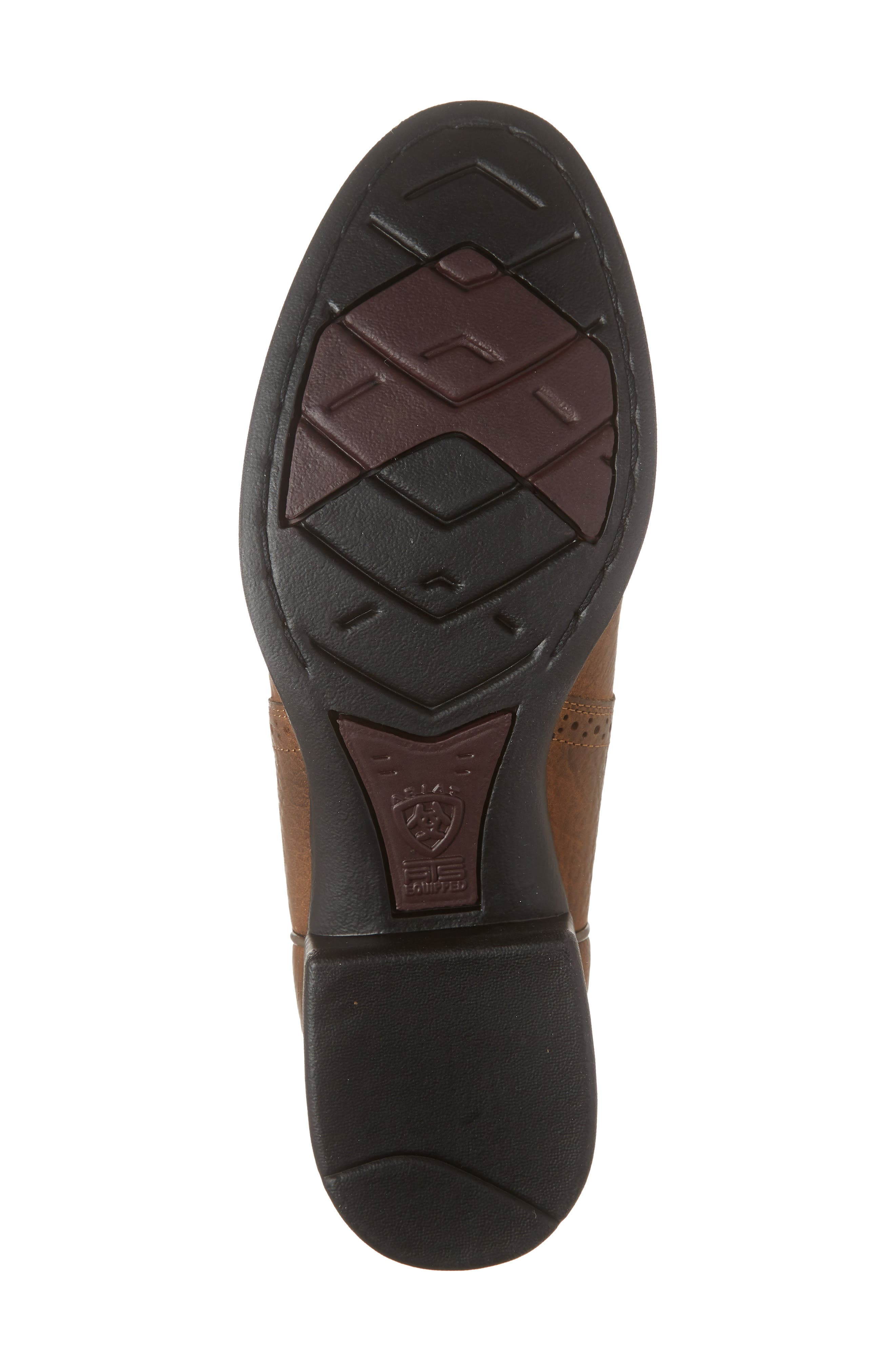 ARIAT, Heritage Stockman Cowboy Boot, Alternate thumbnail 6, color, BROWN/ BEIGE LEATHER