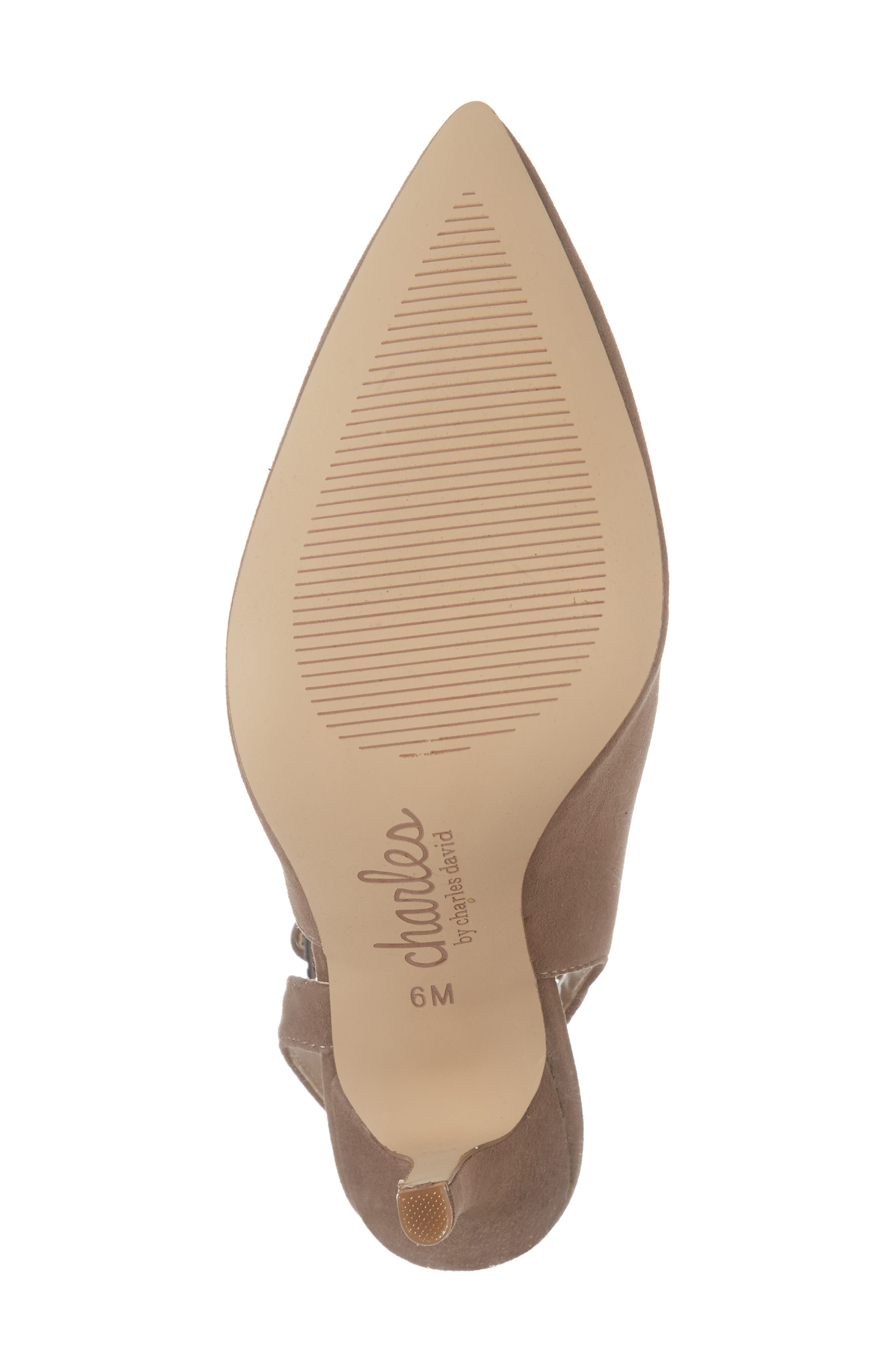 CHARLES BY CHARLES DAVID, Mieko Pump, Alternate thumbnail 6, color, TAUPE SUEDE