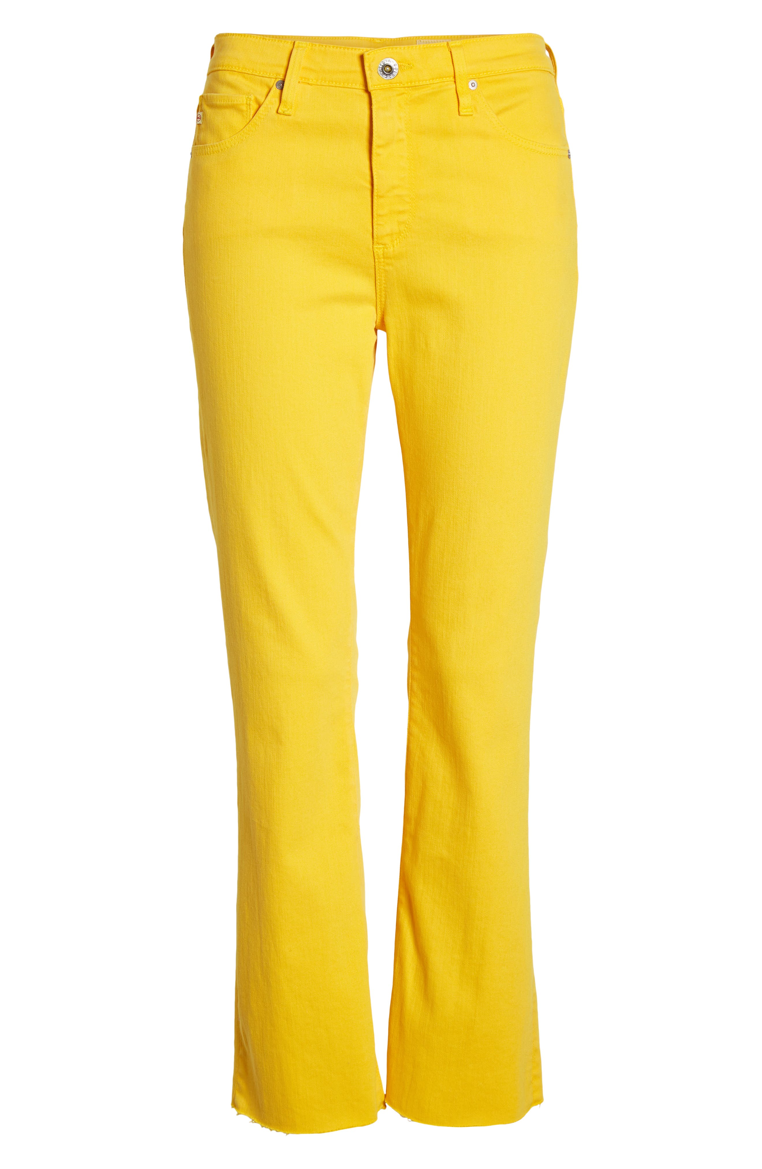 AG, Jodi High Waist Crop Jeans, Alternate thumbnail 7, color, GOLDEN OCHRE