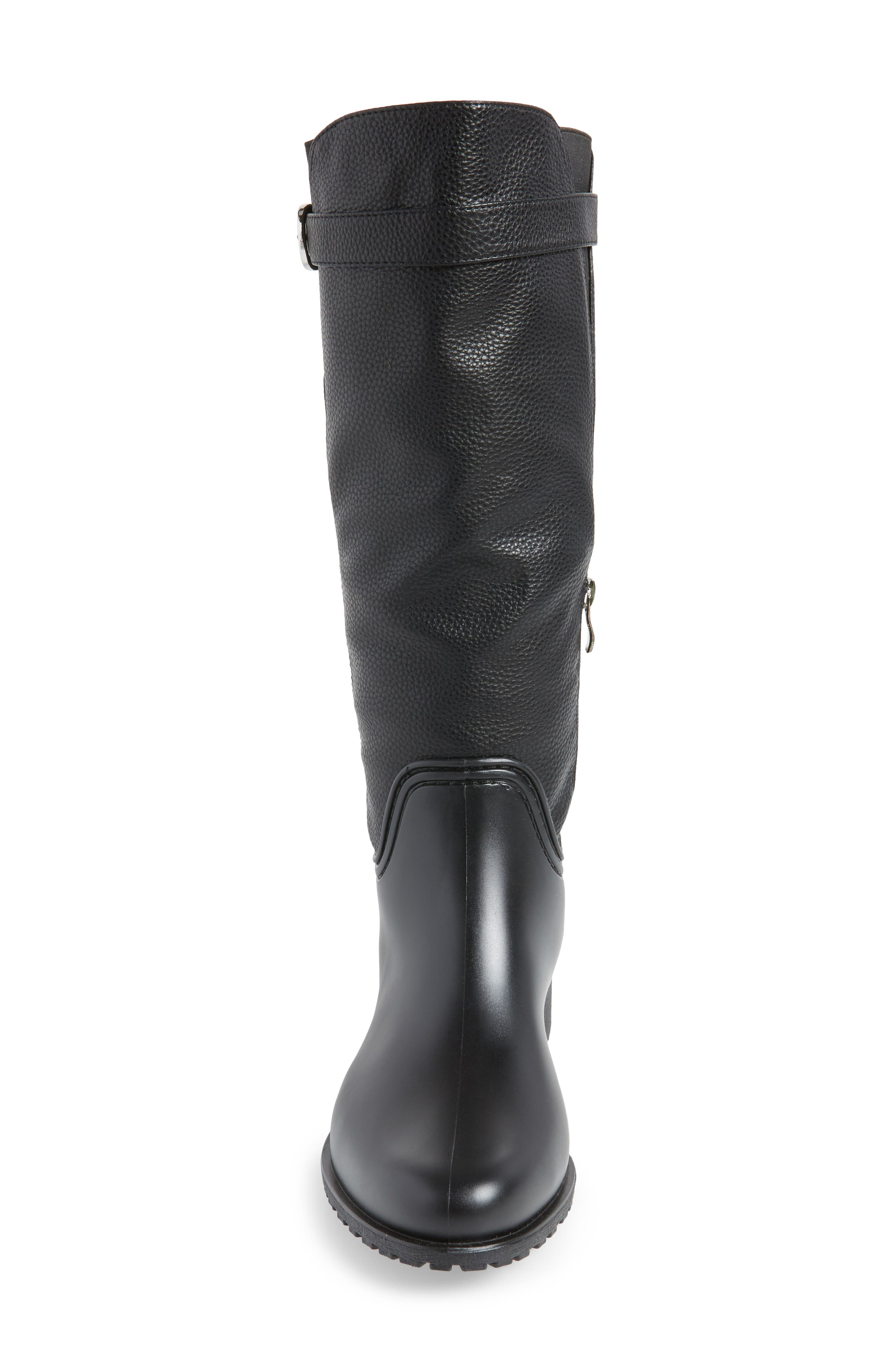 DÄV, Dunkirk Water Resistant Boot, Alternate thumbnail 4, color, BLACK