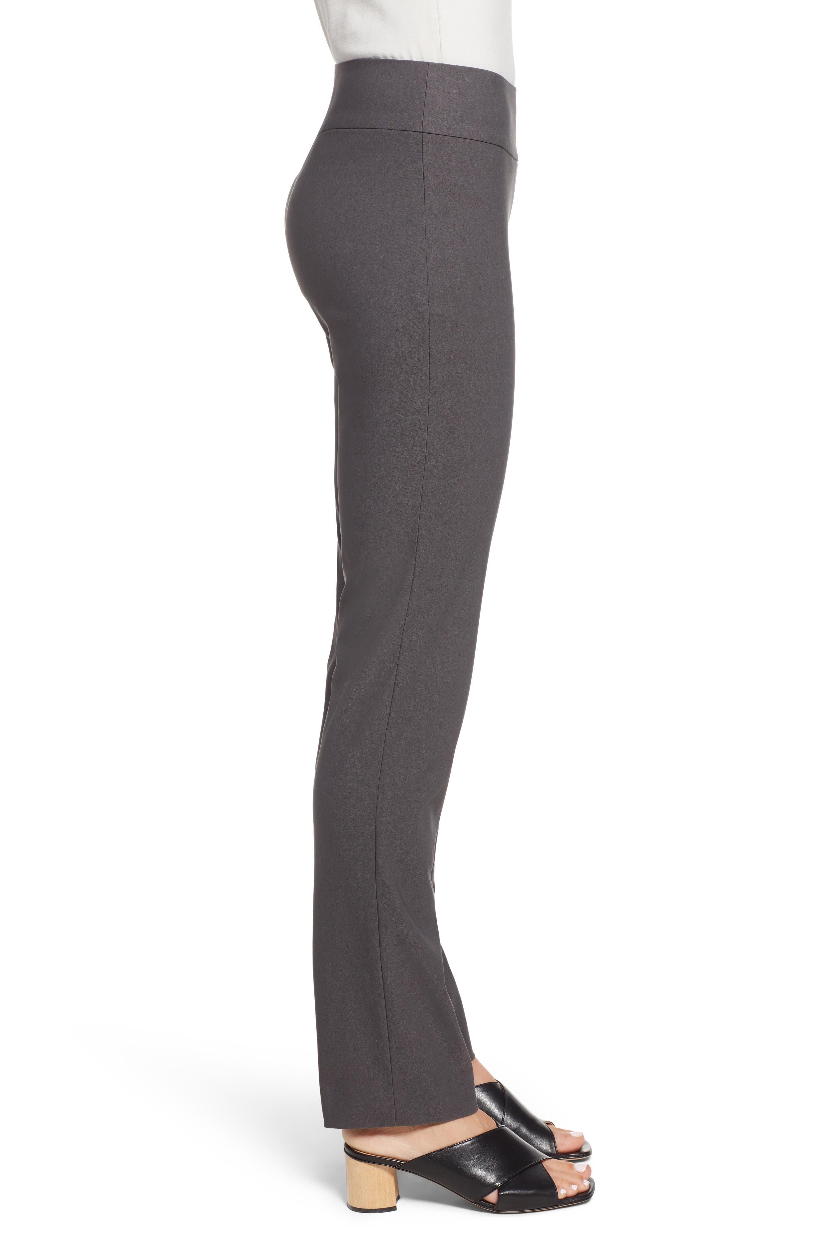 NIC+ZOE, Wonderstretch Slim Leg Pants, Alternate thumbnail 4, color, GRAPHITE