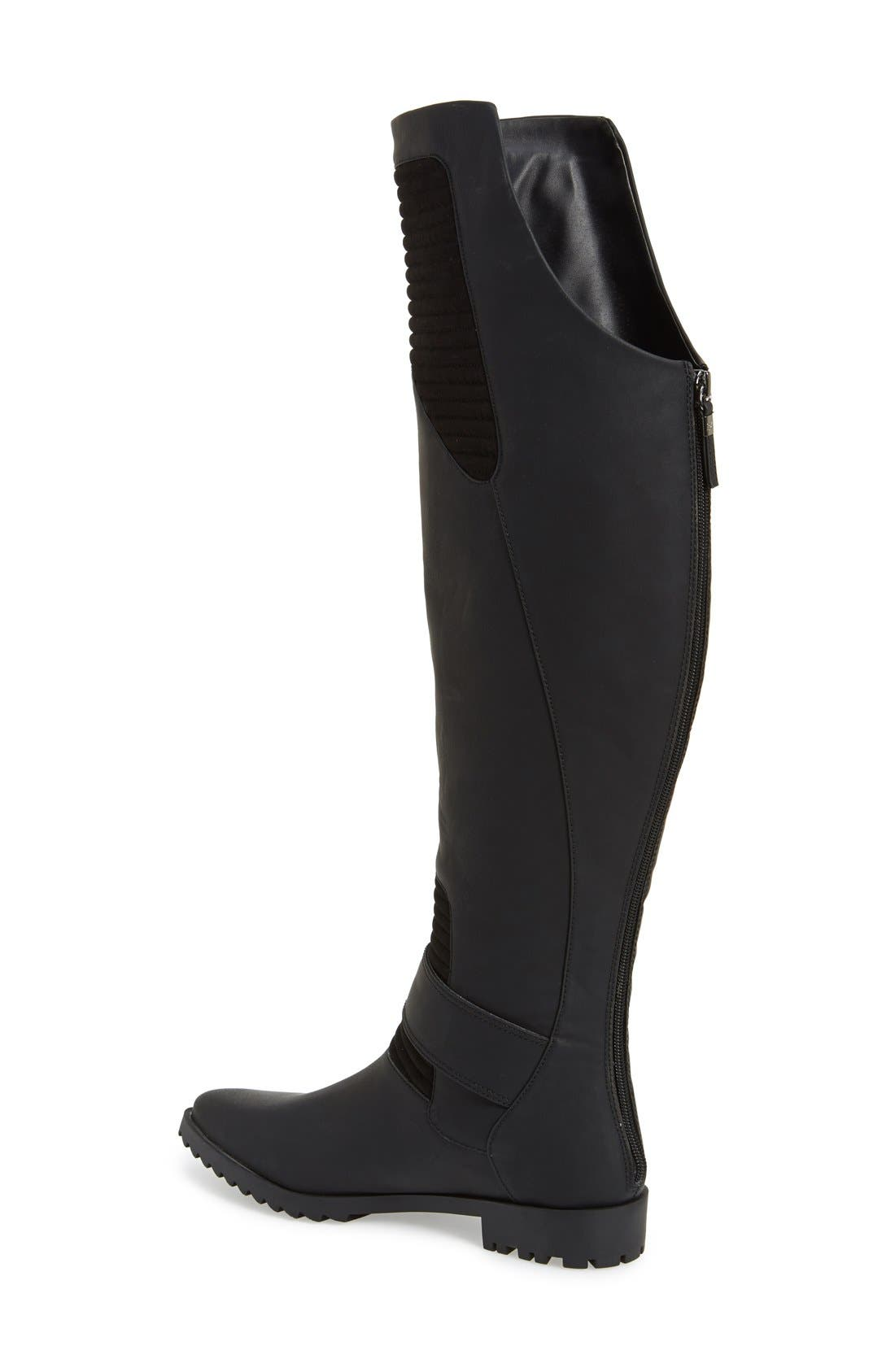 GX BY GWEN STEFANI, 'Toledo' Over the Knee Boot, Alternate thumbnail 3, color, 001