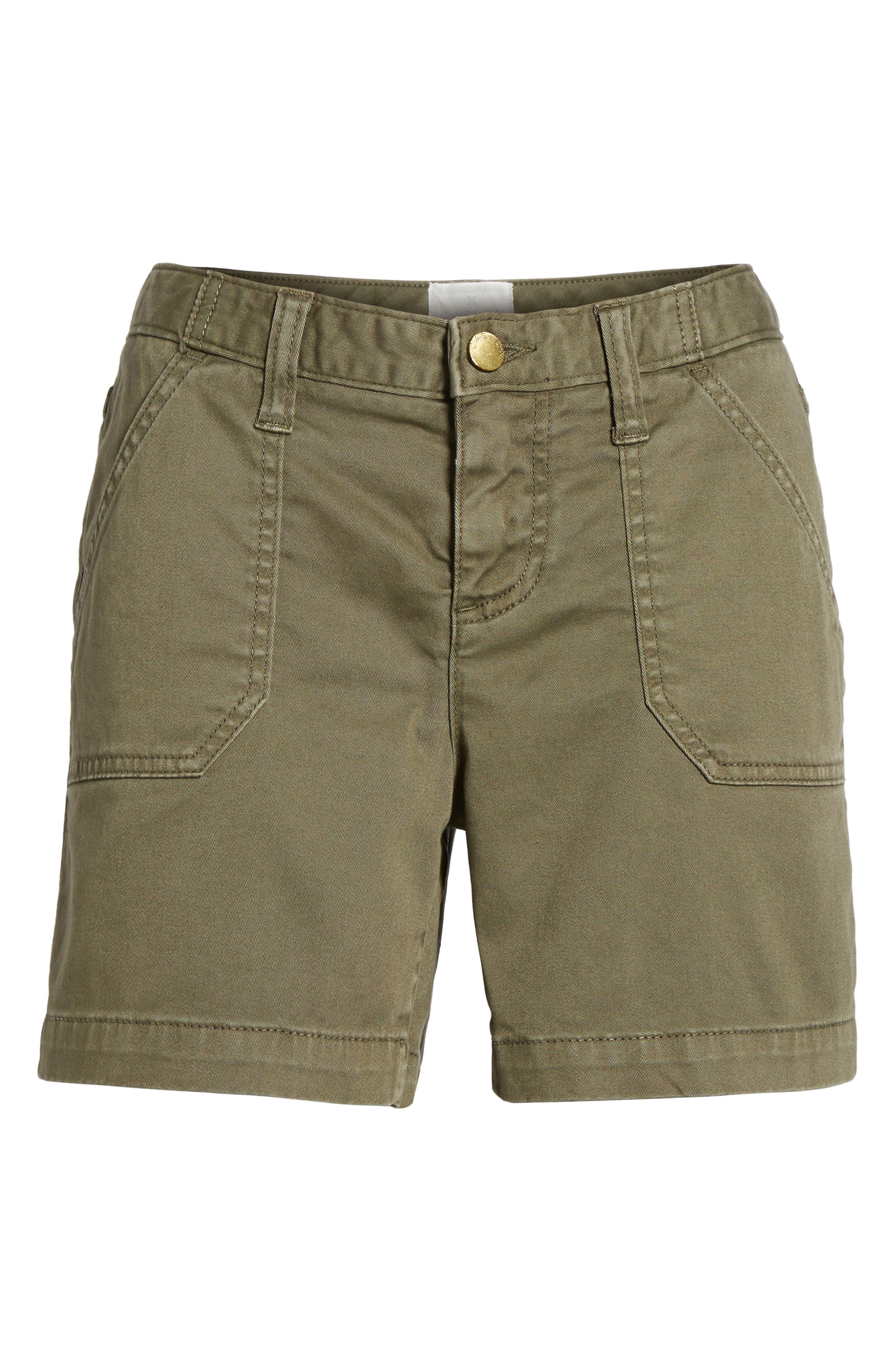 CASLON<SUP>®</SUP>, Utility Shorts, Alternate thumbnail 7, color, OLIVE SARMA
