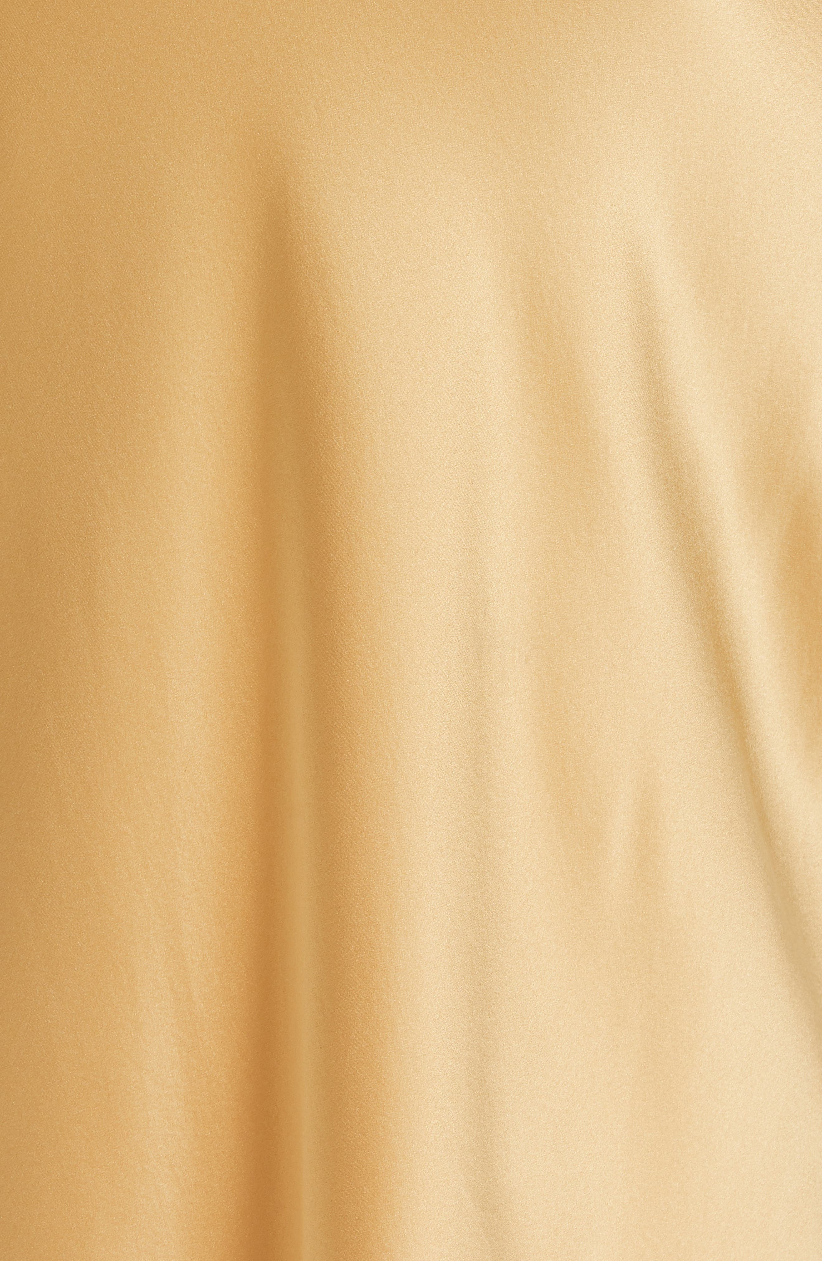 NILI LOTAN, Bazile Silk Evening Dress, Alternate thumbnail 5, color, GOLDEN