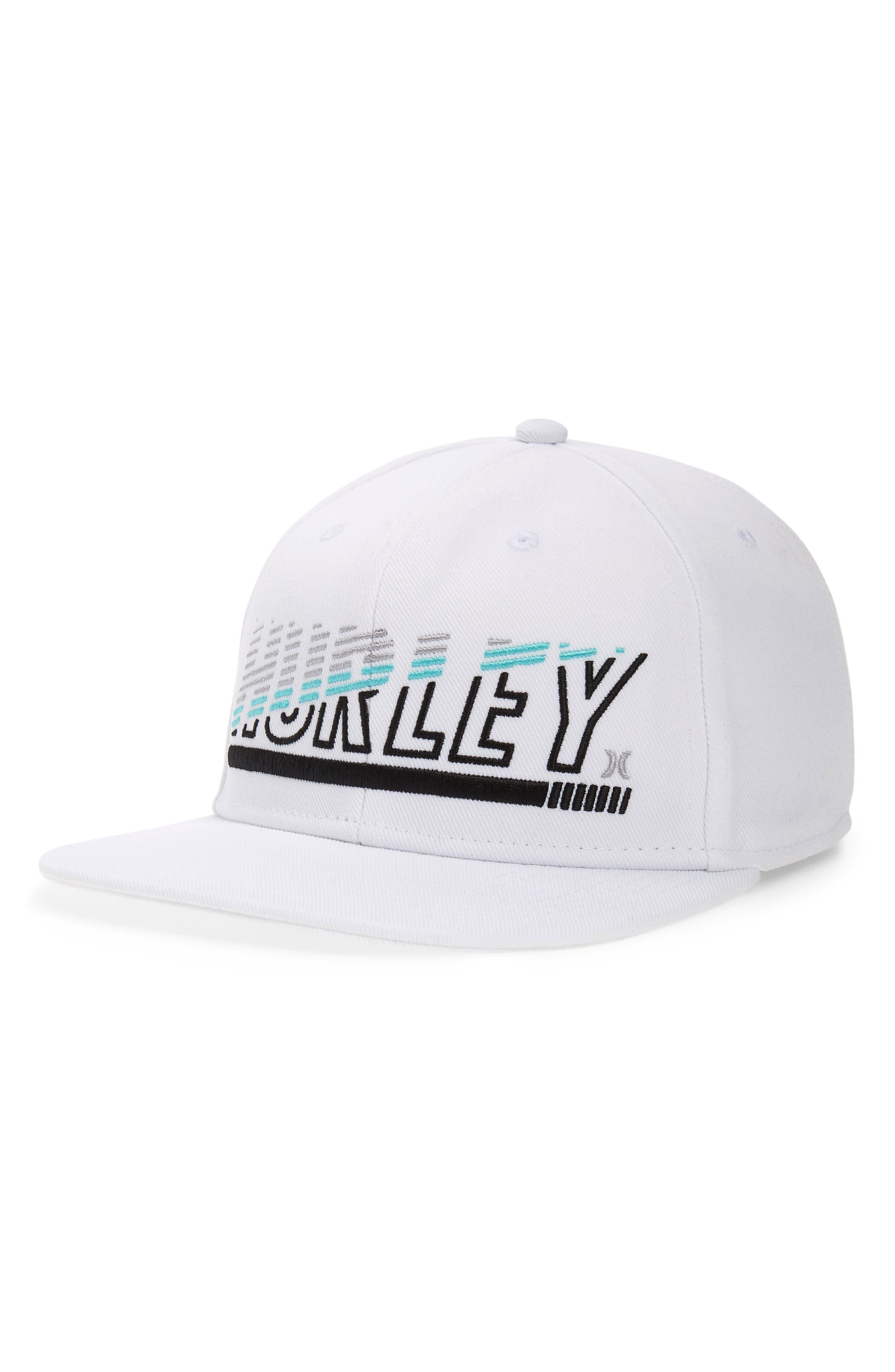 HURLEY Chopped Snapback Cap, Main, color, WHITE