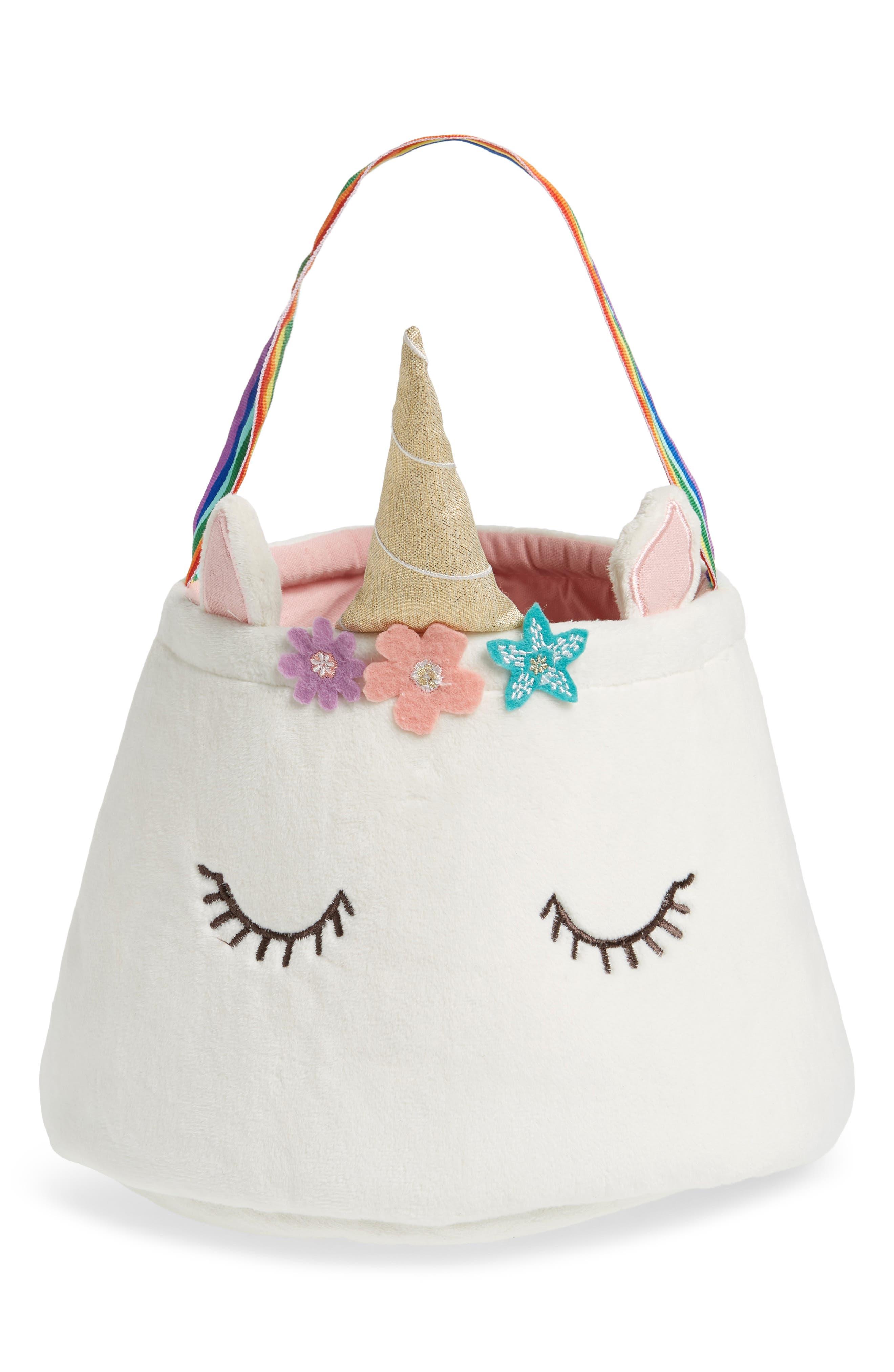 LEVTEX Unicorn Easter Basket, Main, color, 100