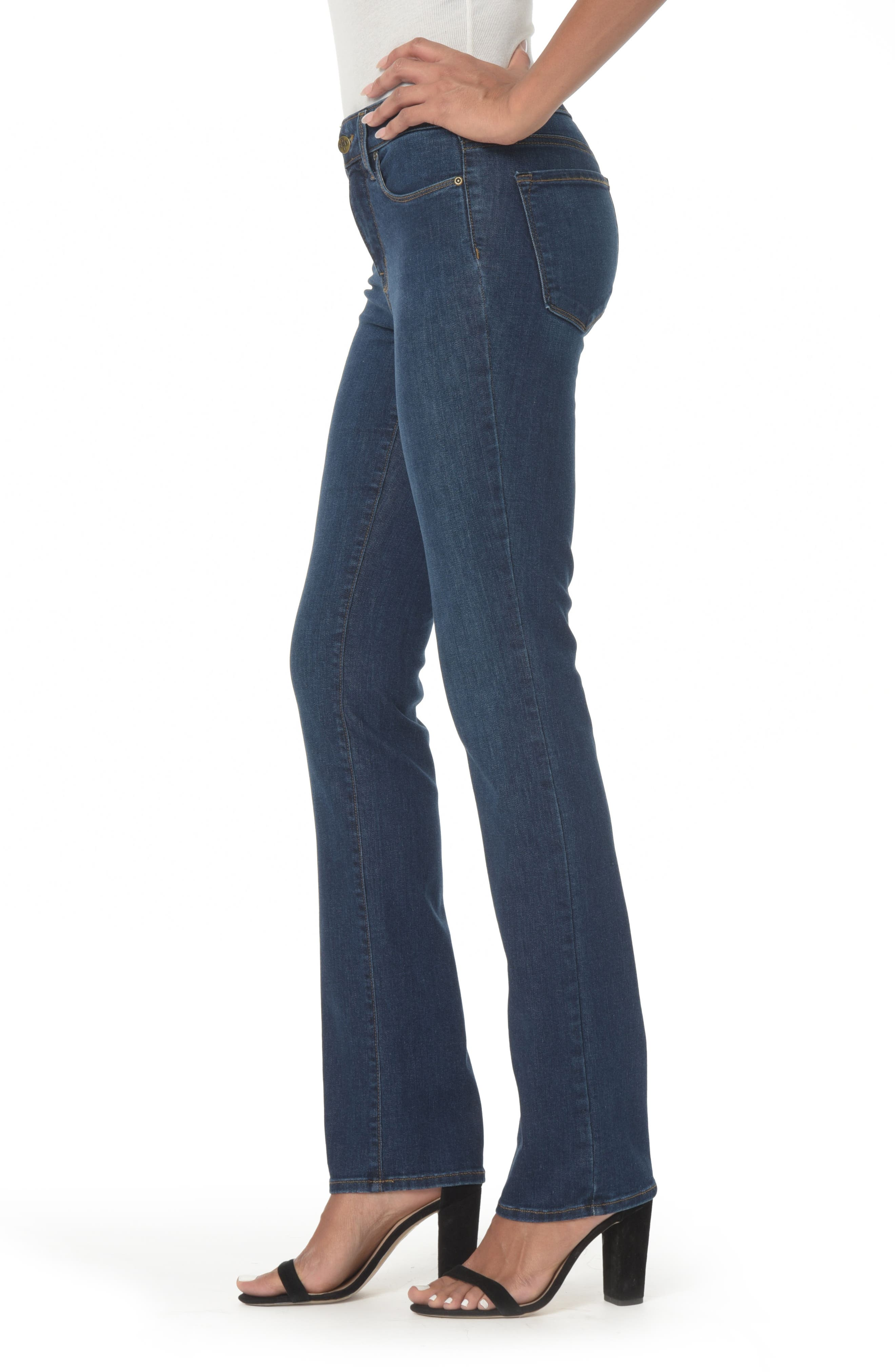NYDJ, Marilyn High Waist Stretch Straight Leg Jeans, Alternate thumbnail 4, color, COOPER