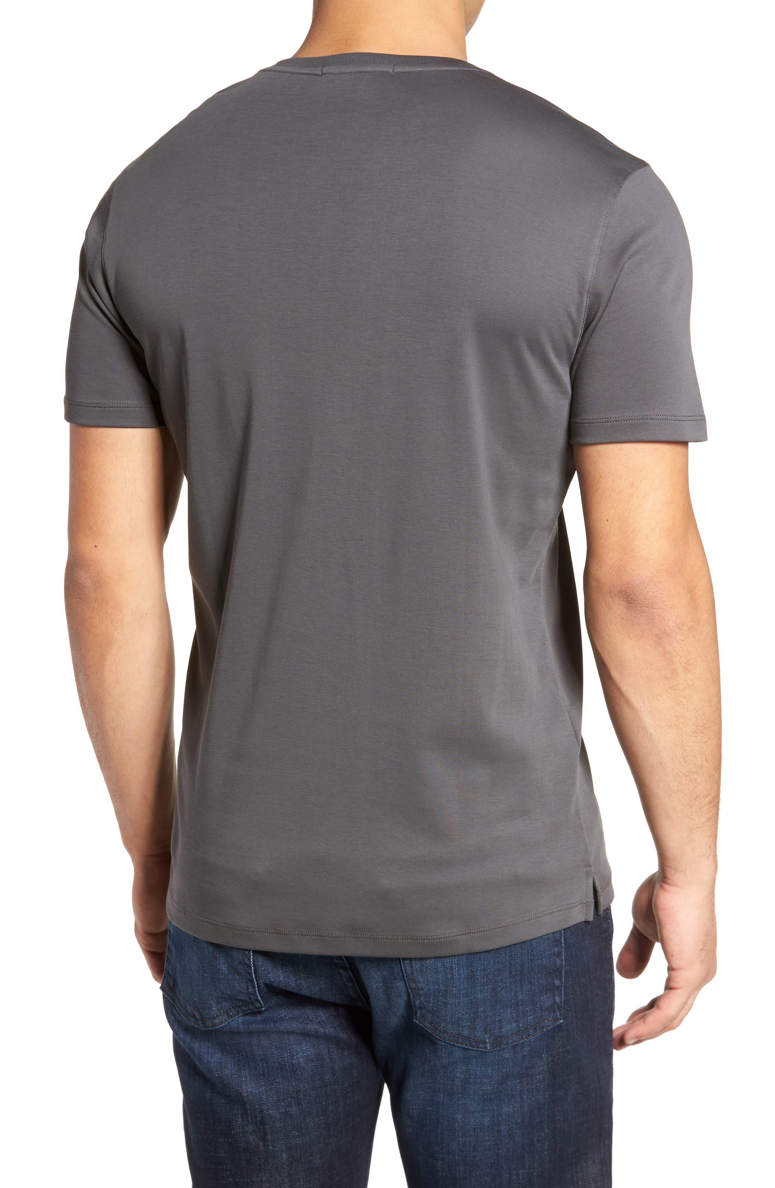 ROBERT BARAKETT, Georgia Regular Fit V-Neck T-Shirt, Alternate thumbnail 2, color, IRON