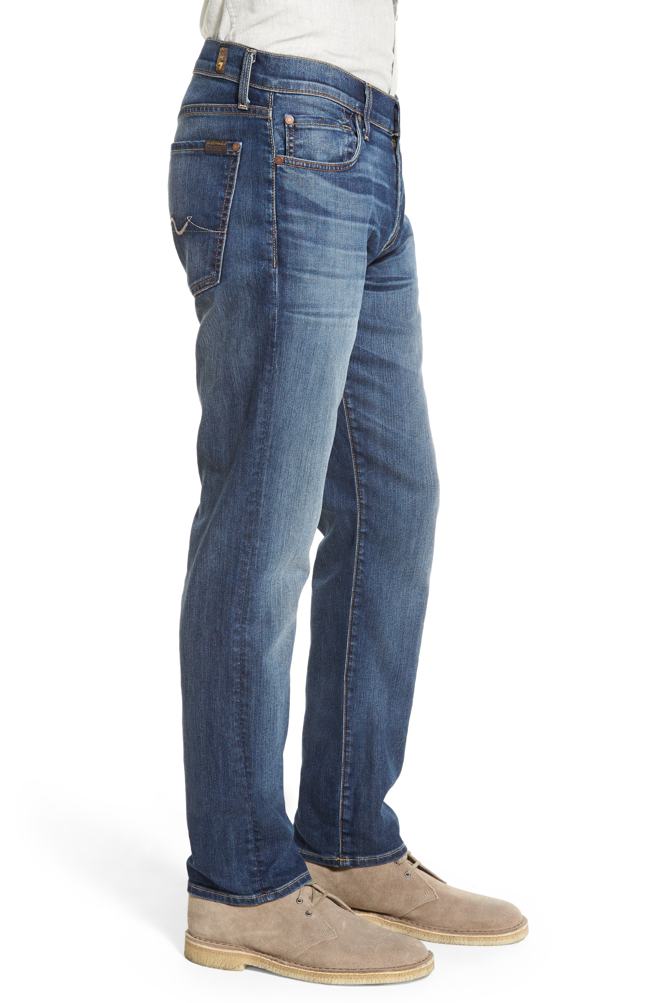 7 FOR ALL MANKIND<SUP>®</SUP>, 'Slimmy - Luxe Performance' Slim Fit Jeans, Alternate thumbnail 3, color, AIR WEFT COMMOTION