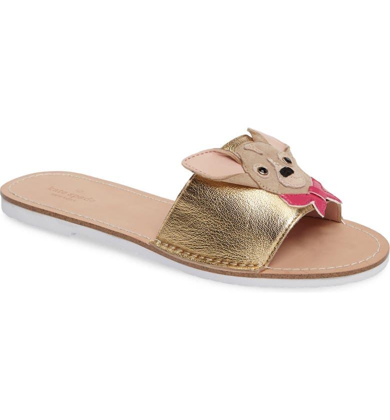 16e342b1dbcd kate spade new york isadore chihuahua slide sandal (Women)