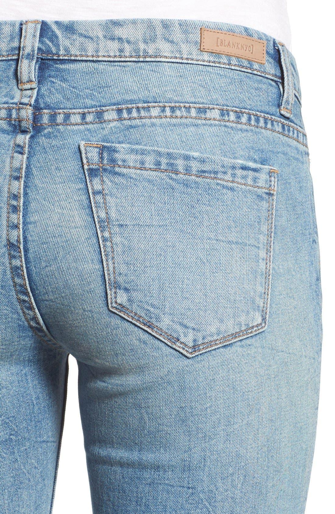 BLANKNYC, 'Skinny Dipper' Distressed Skinny Jeans, Alternate thumbnail 2, color, 400