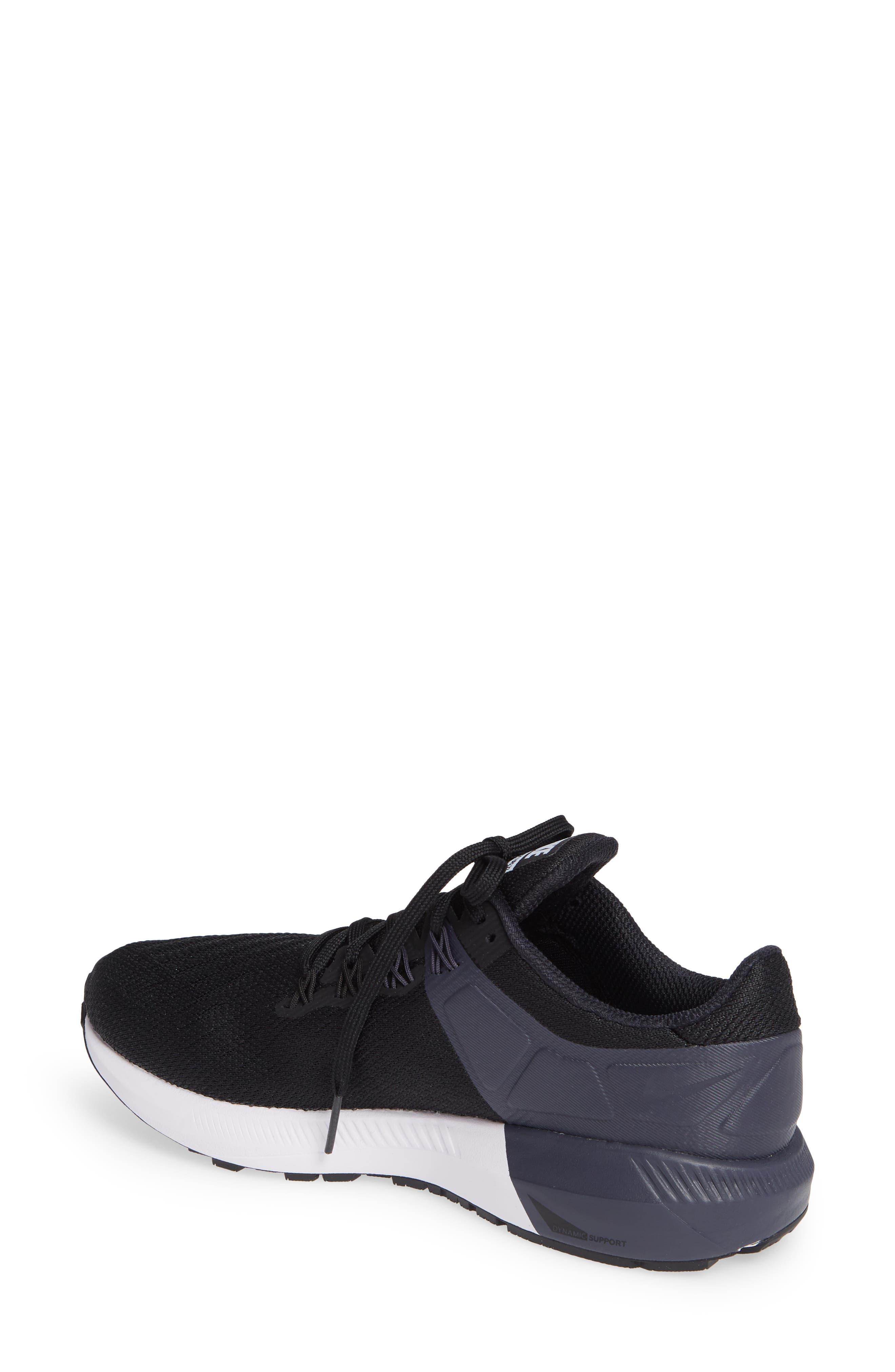NIKE, Air Zoom Structure 22 Sneaker, Alternate thumbnail 2, color, BLACK/ WHITE-GRIDIRON