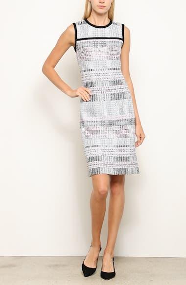 Bianca Plaid Knit Sheath Dress, video thumbnail