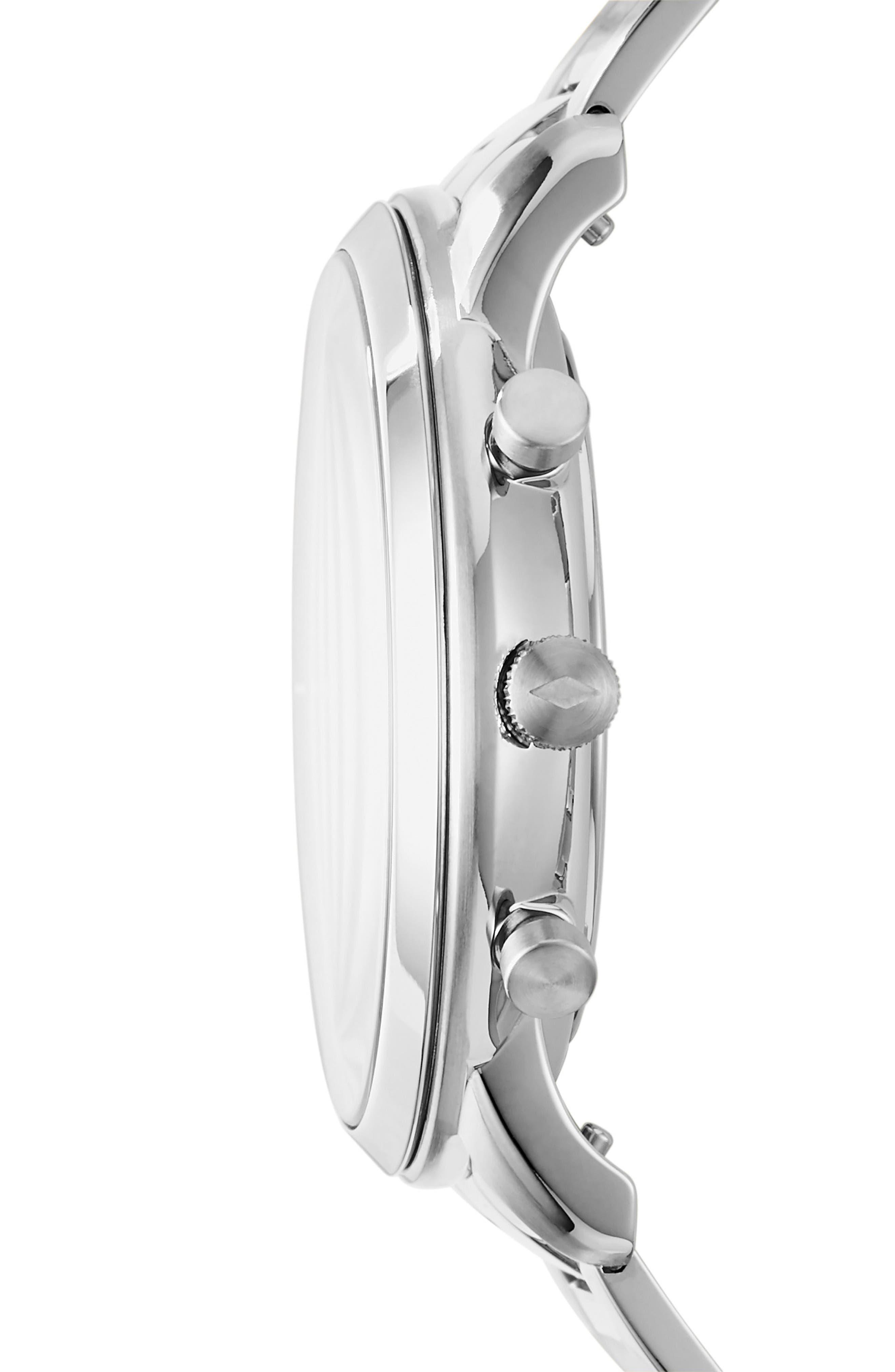 FOSSIL, Neutra Chronograph Bracelet Watch, 44mm, Alternate thumbnail 2, color, SILVER/ BLACK/ SILVER
