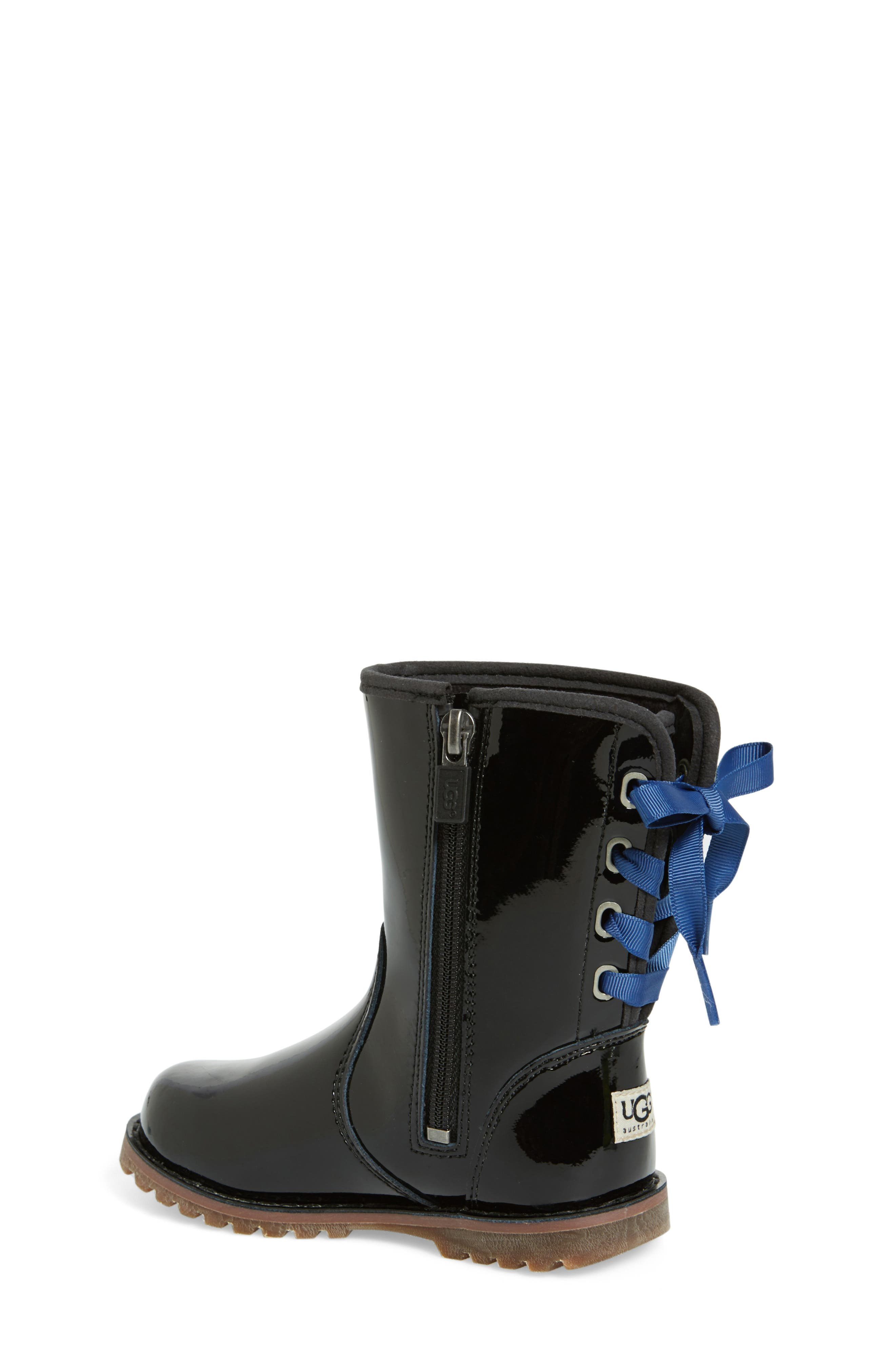 UGG<SUP>®</SUP> Corene Patent Leather Boot, Main, color, BLACK/ BLACK