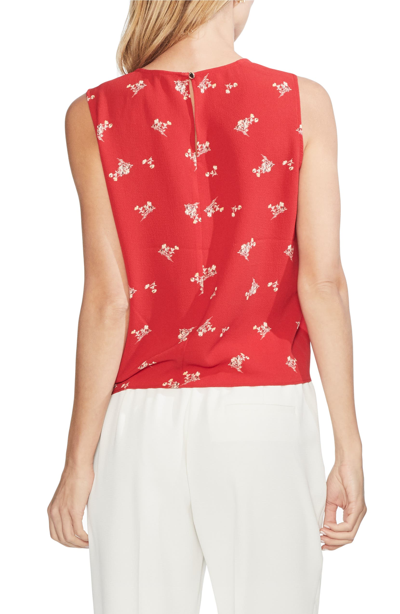55dc9742bbb9f Vince Camuto Desert Bouquet Tie Front Sleeveless Top