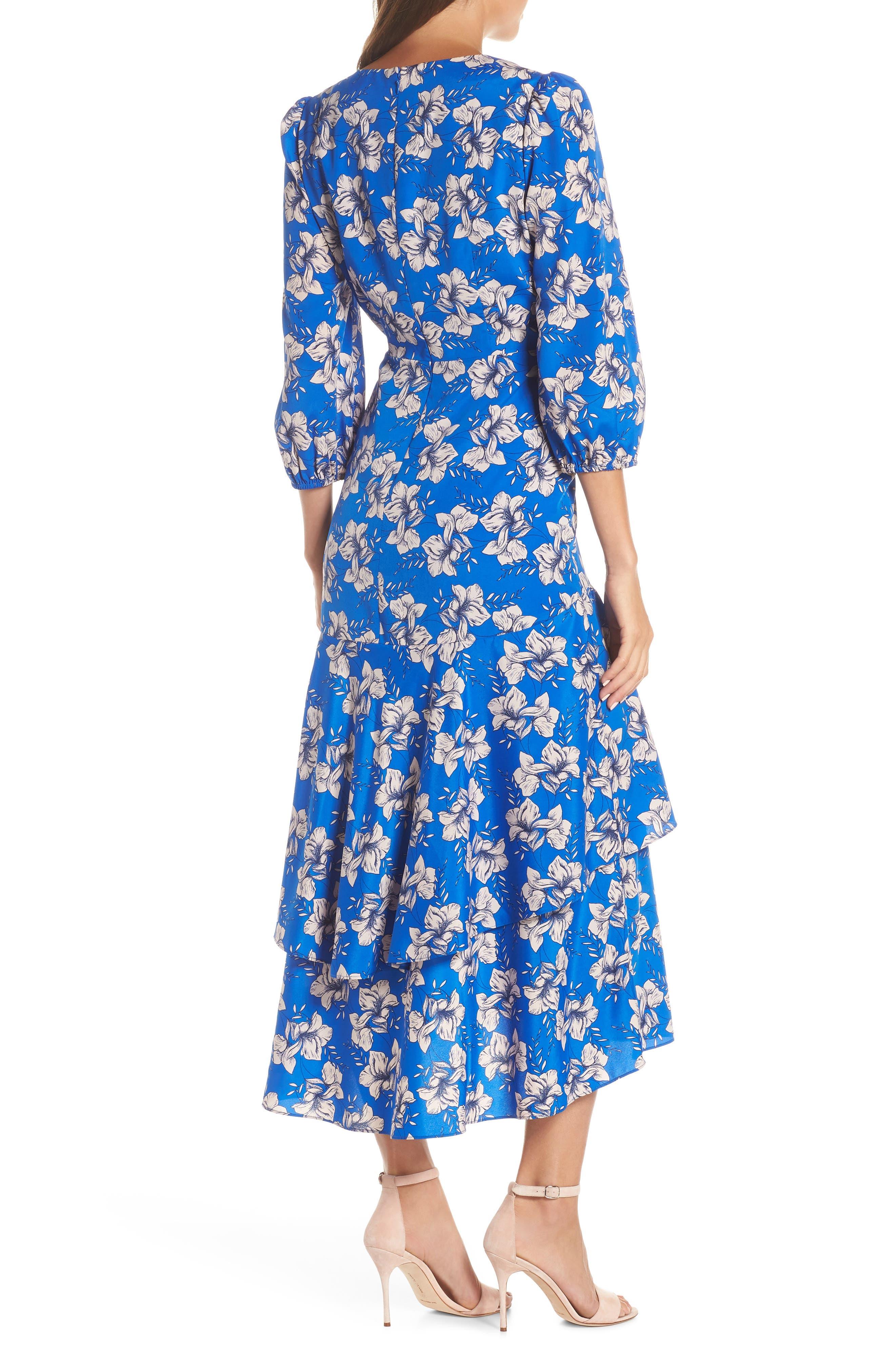 ELIZA J, Faux Wrap Maxi Dress, Alternate thumbnail 2, color, BLUE