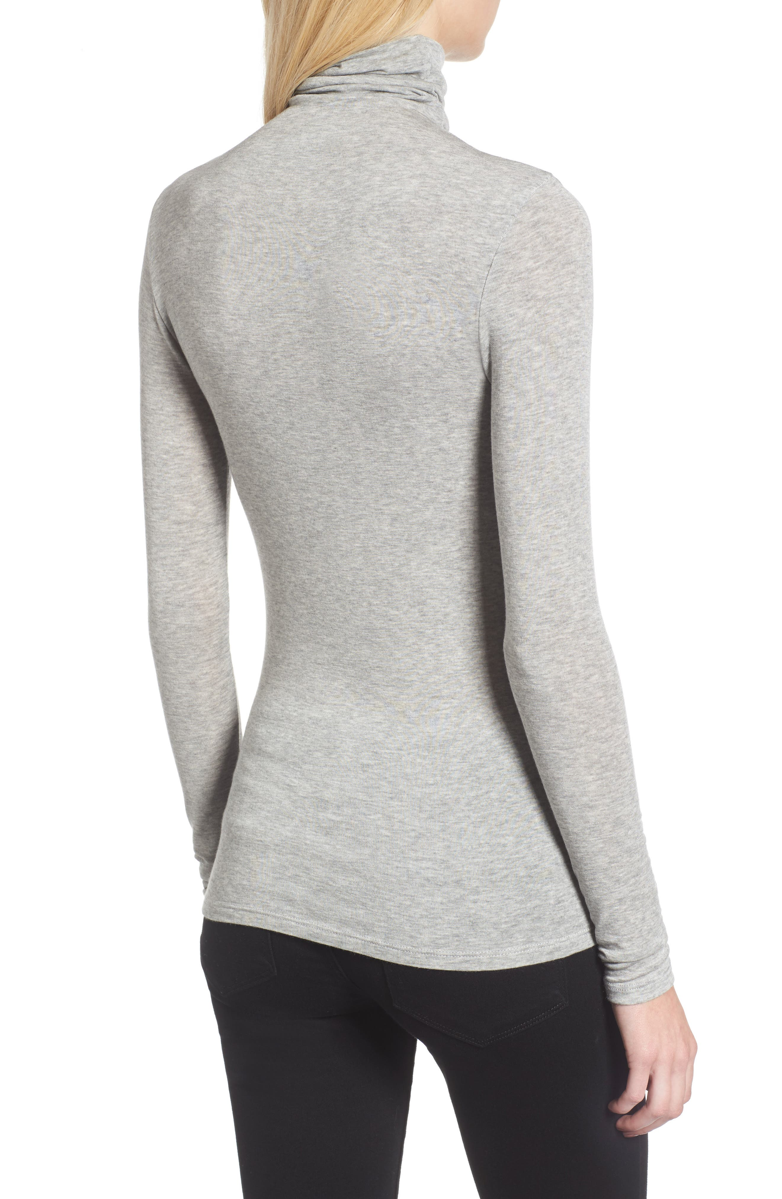 CHELSEA28, Layering Turtleneck, Alternate thumbnail 2, color, GREY HEATHER